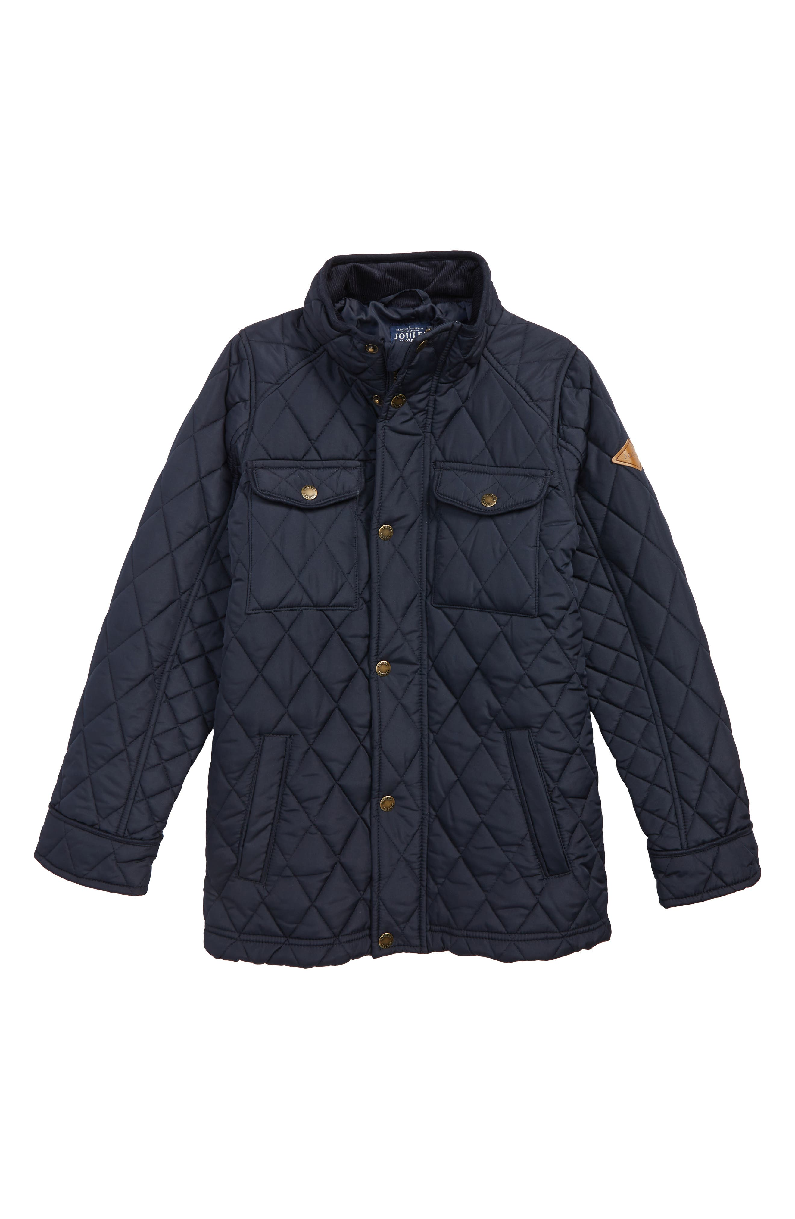 Stafford Quilted Jacket,                         Main,                         color, MARINE NAVY