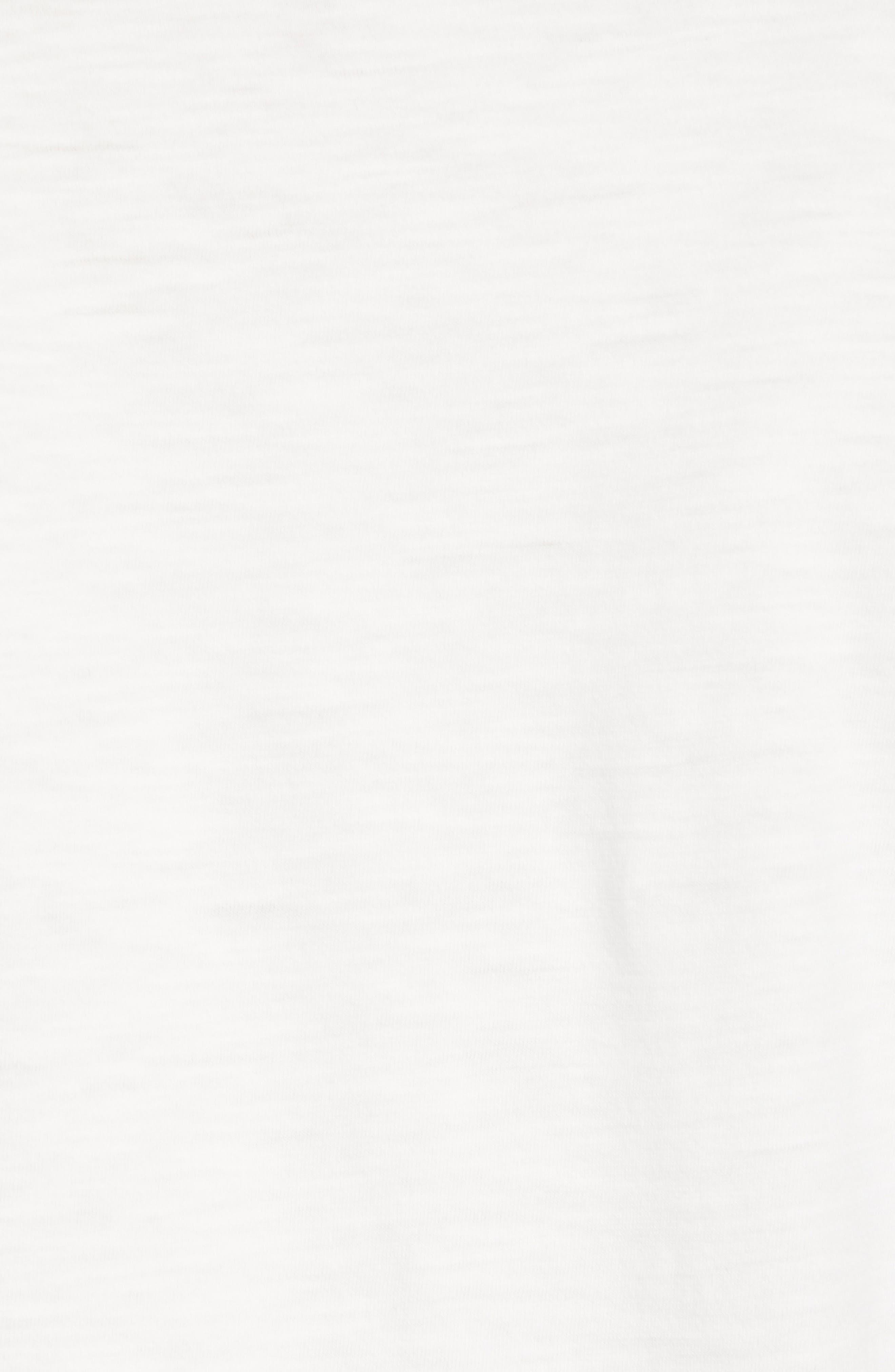 Surf Stripe Pocket T-Shirt,                             Alternate thumbnail 5, color,                             WHITE SURF STRIPE