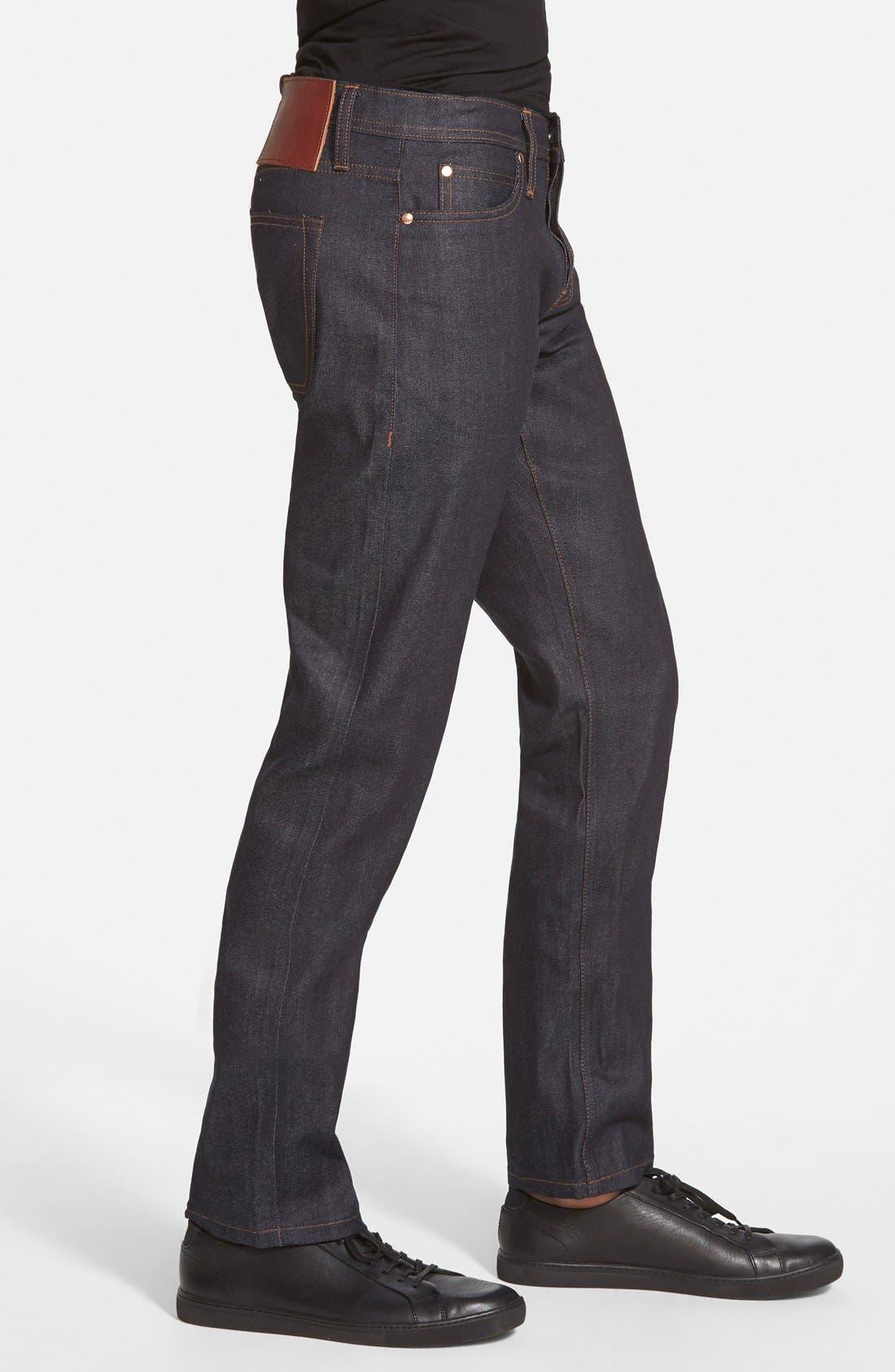'UB122' Skinny Fit Raw Selvedge Jeans,                             Alternate thumbnail 2, color,                             401