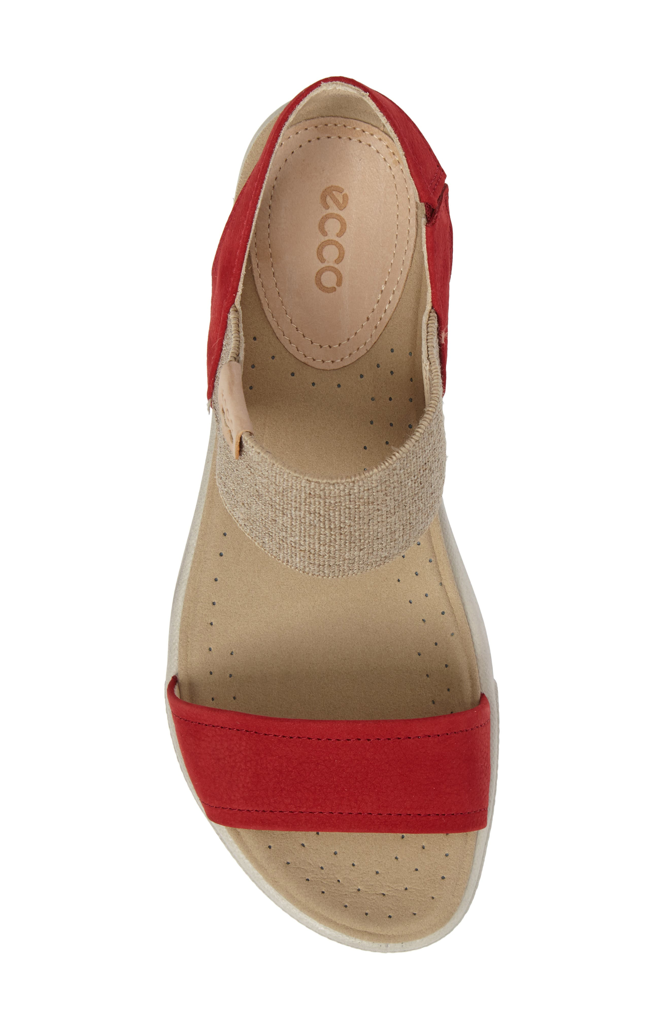 'Damara' Sandal,                             Alternate thumbnail 5, color,                             CHILI RED LEATHER