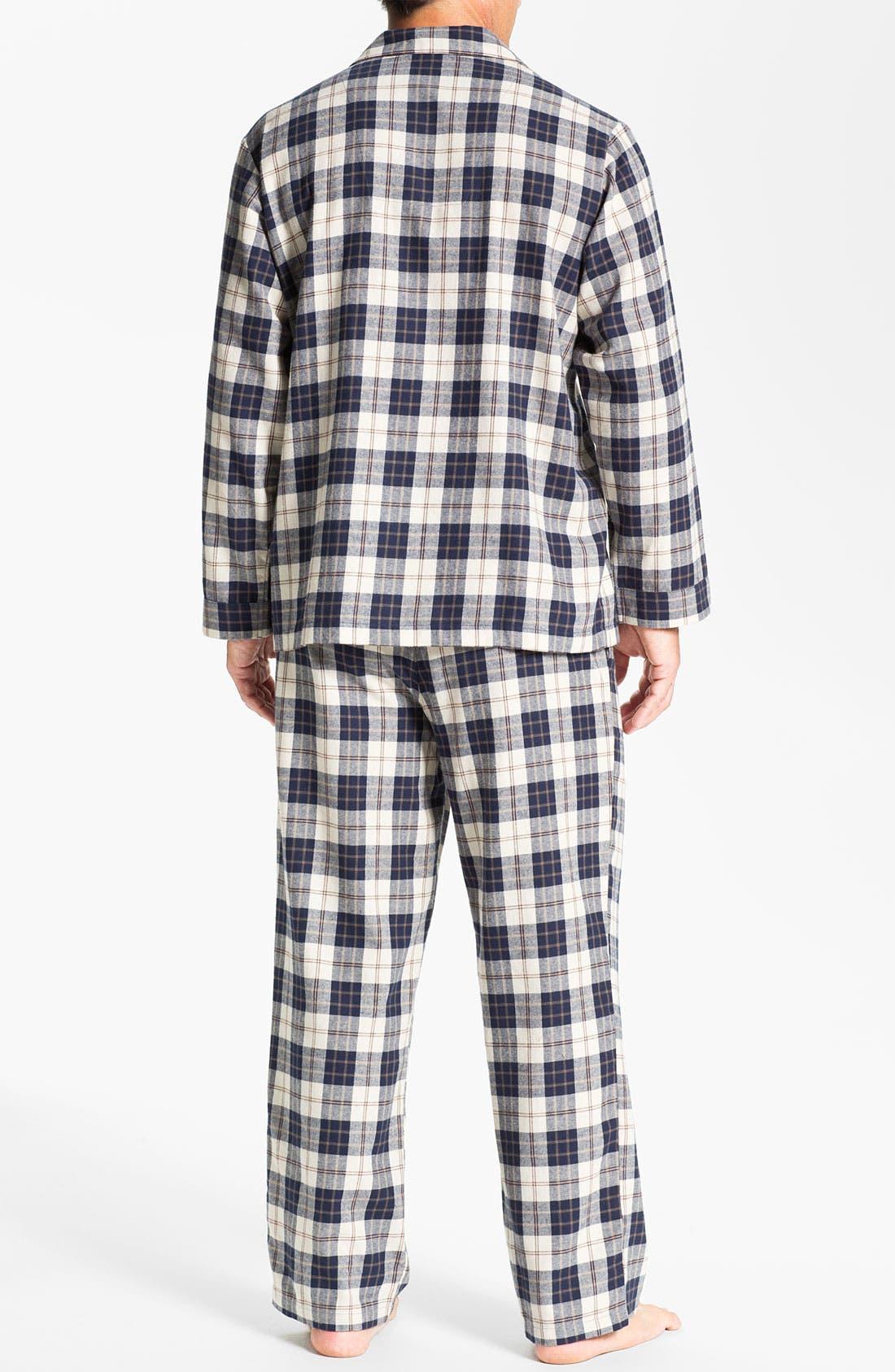 '824' Flannel Pajama Set,                             Alternate thumbnail 75, color,