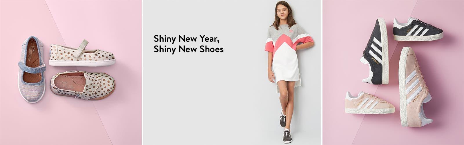 Shiny new year, shiny new shoes.