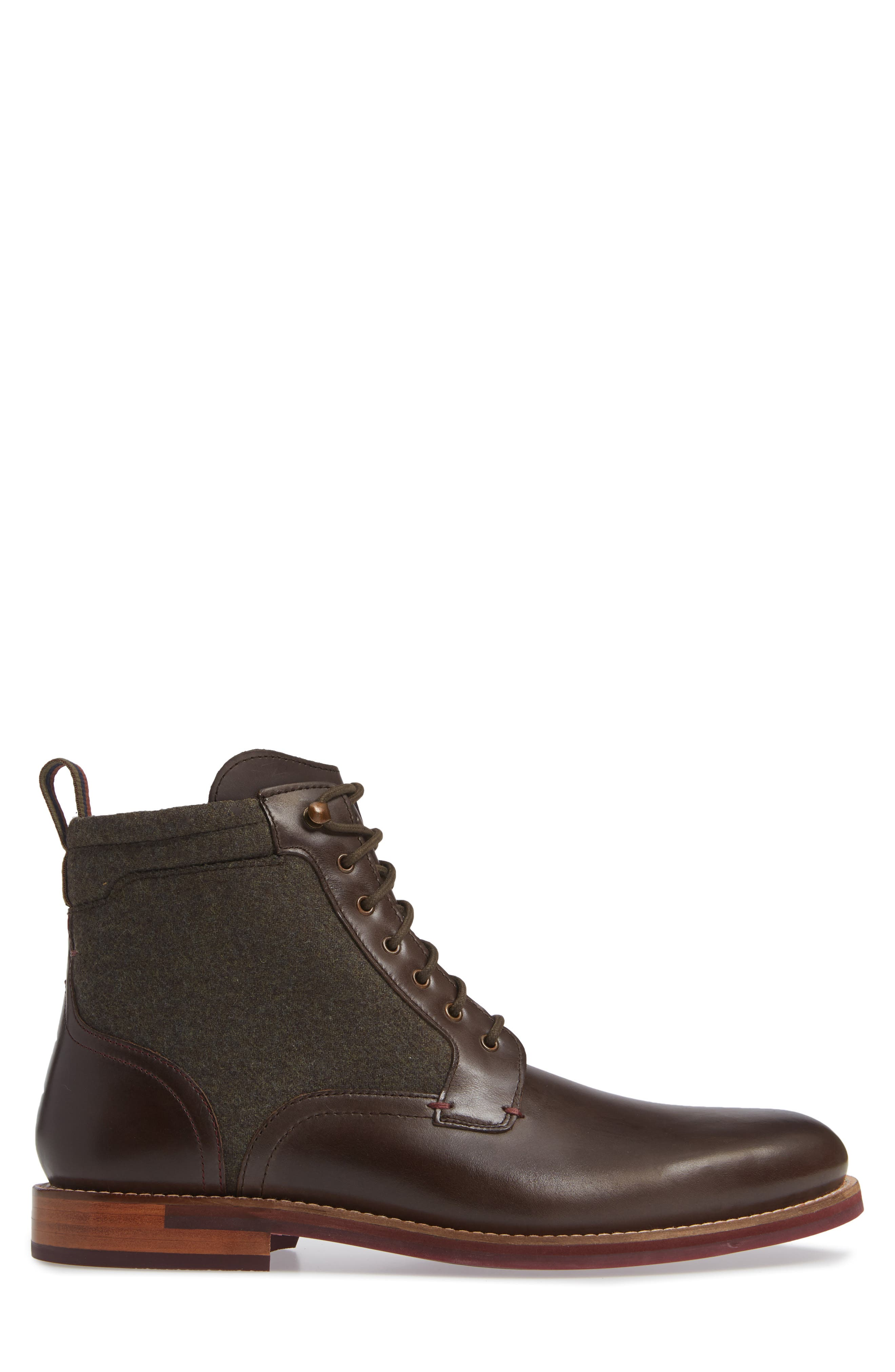Axtoni Boot,                             Alternate thumbnail 3, color,                             BROWN LEATHER