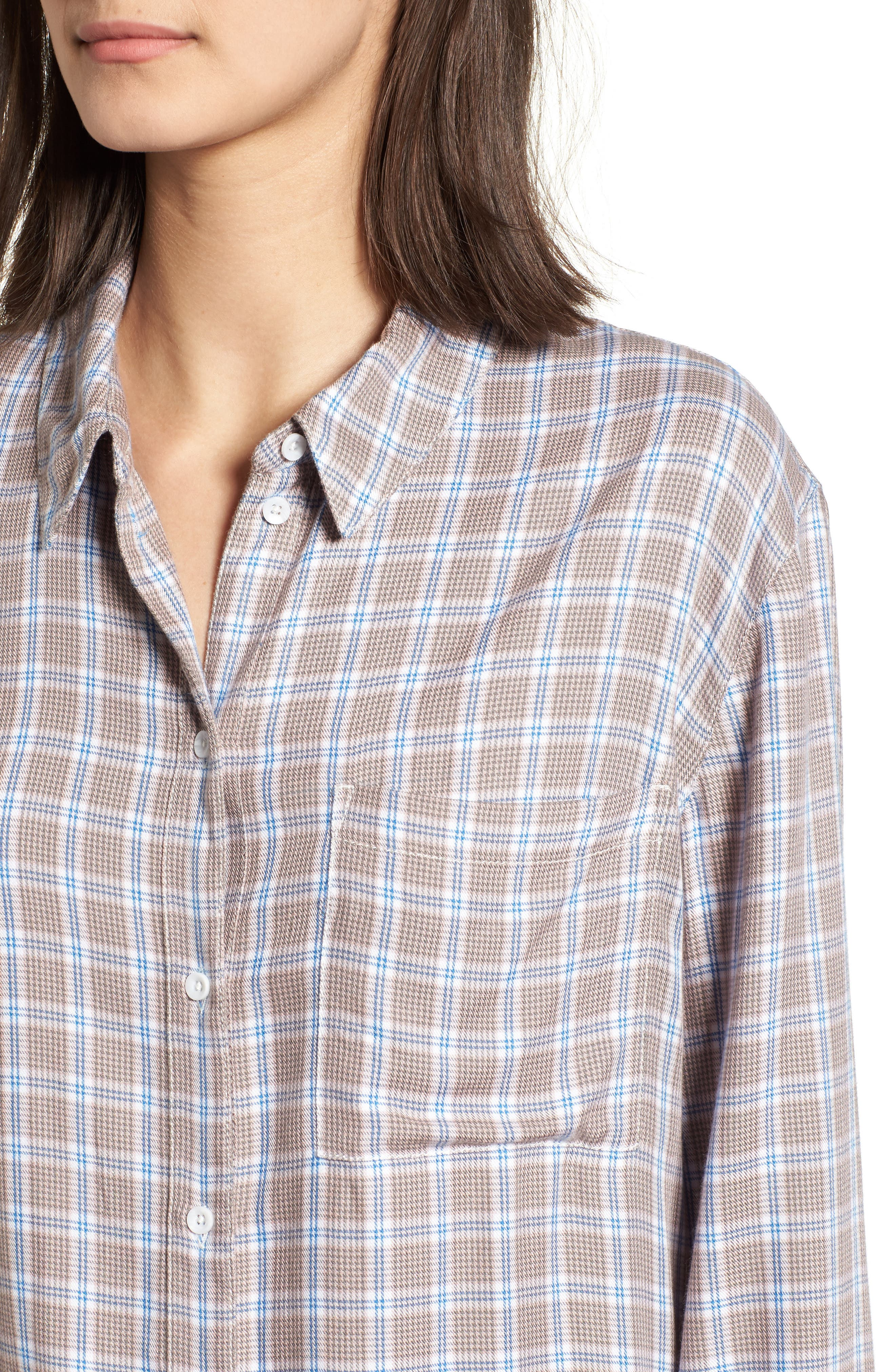 Plaid Boyfriend Shirt,                             Alternate thumbnail 20, color,