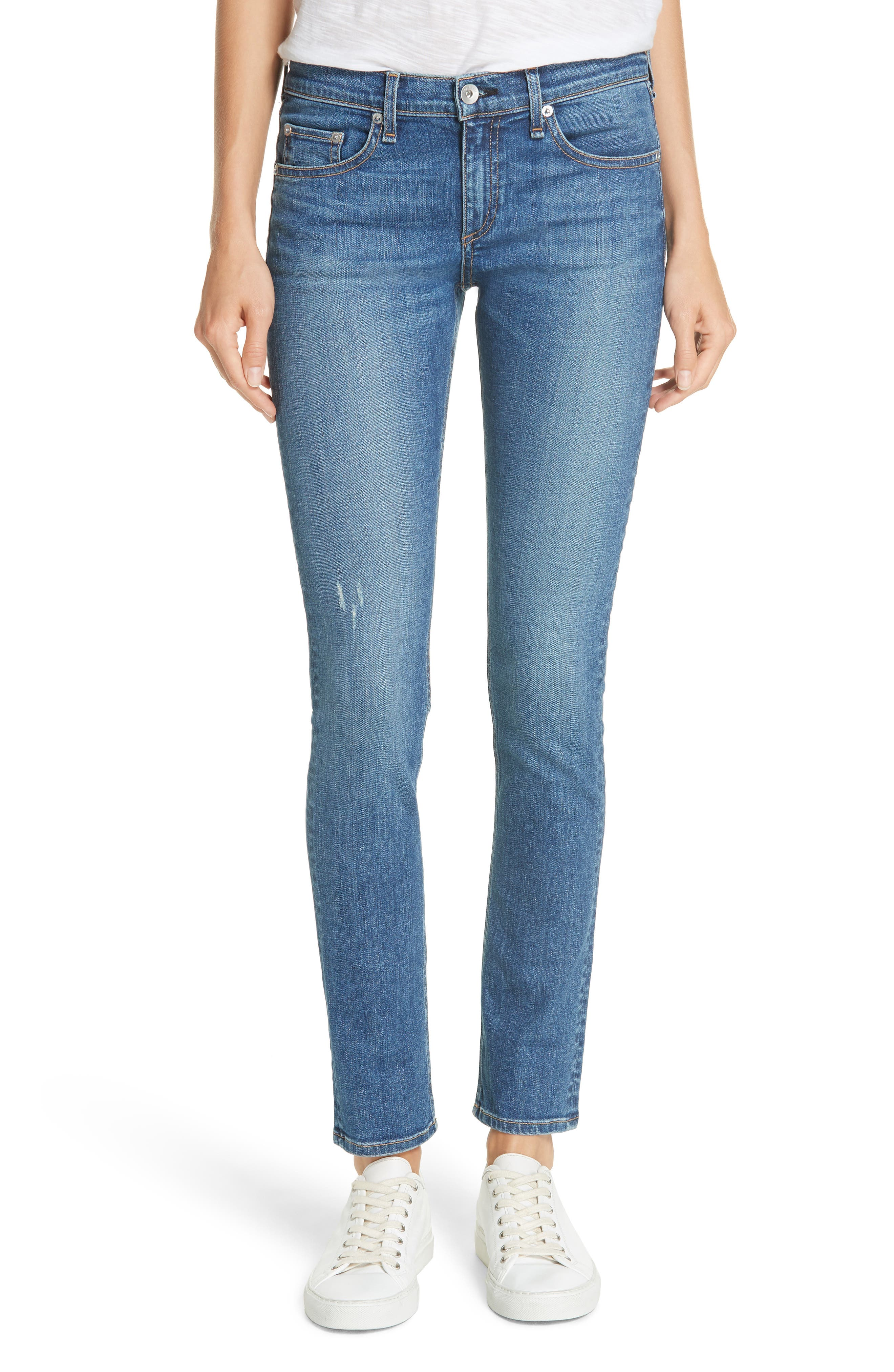 RAG & BONE Skinny Jeans, Main, color, 420
