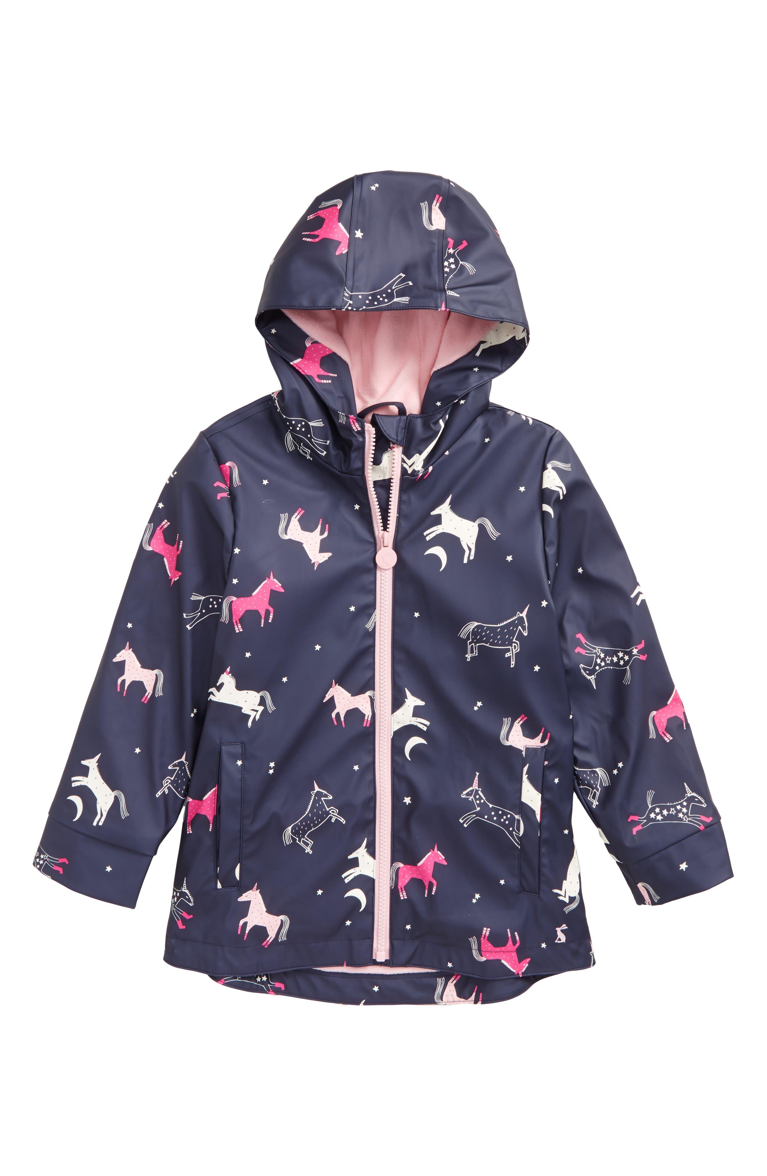 JOULES Fleece Lined Rain Jacket, Main, color, 419