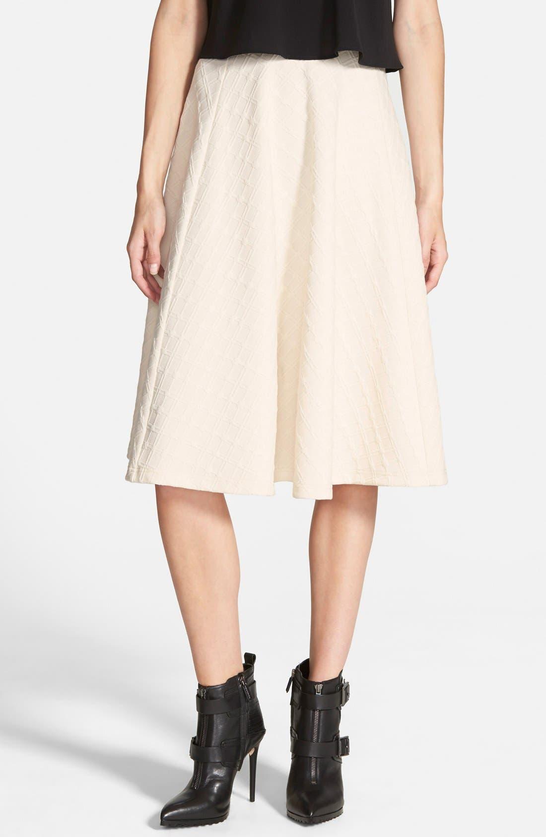 Textured Midi Skirt,                             Main thumbnail 1, color,                             900
