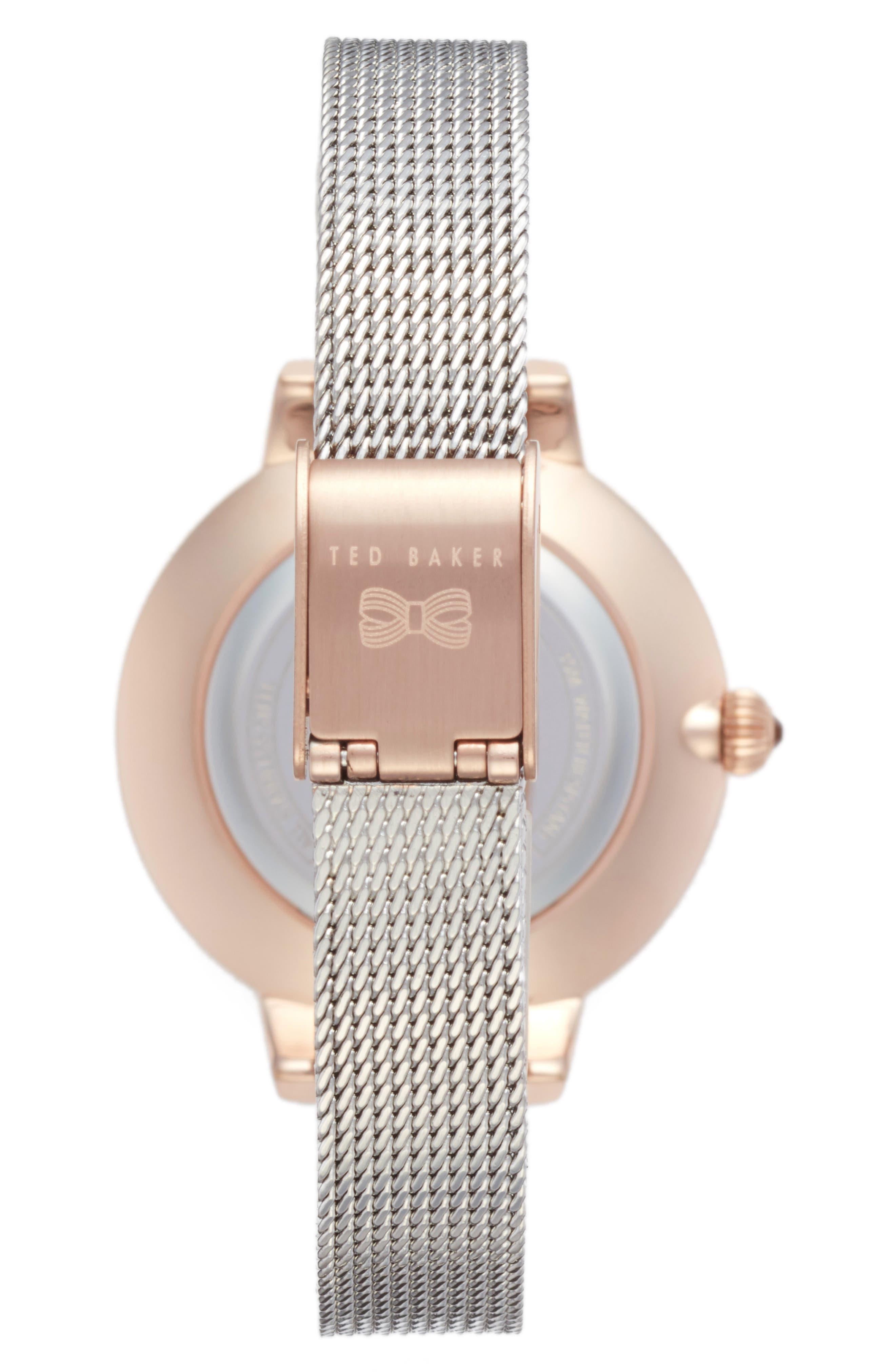 Kate Mesh Strap Watch, 36mm,                             Alternate thumbnail 4, color,
