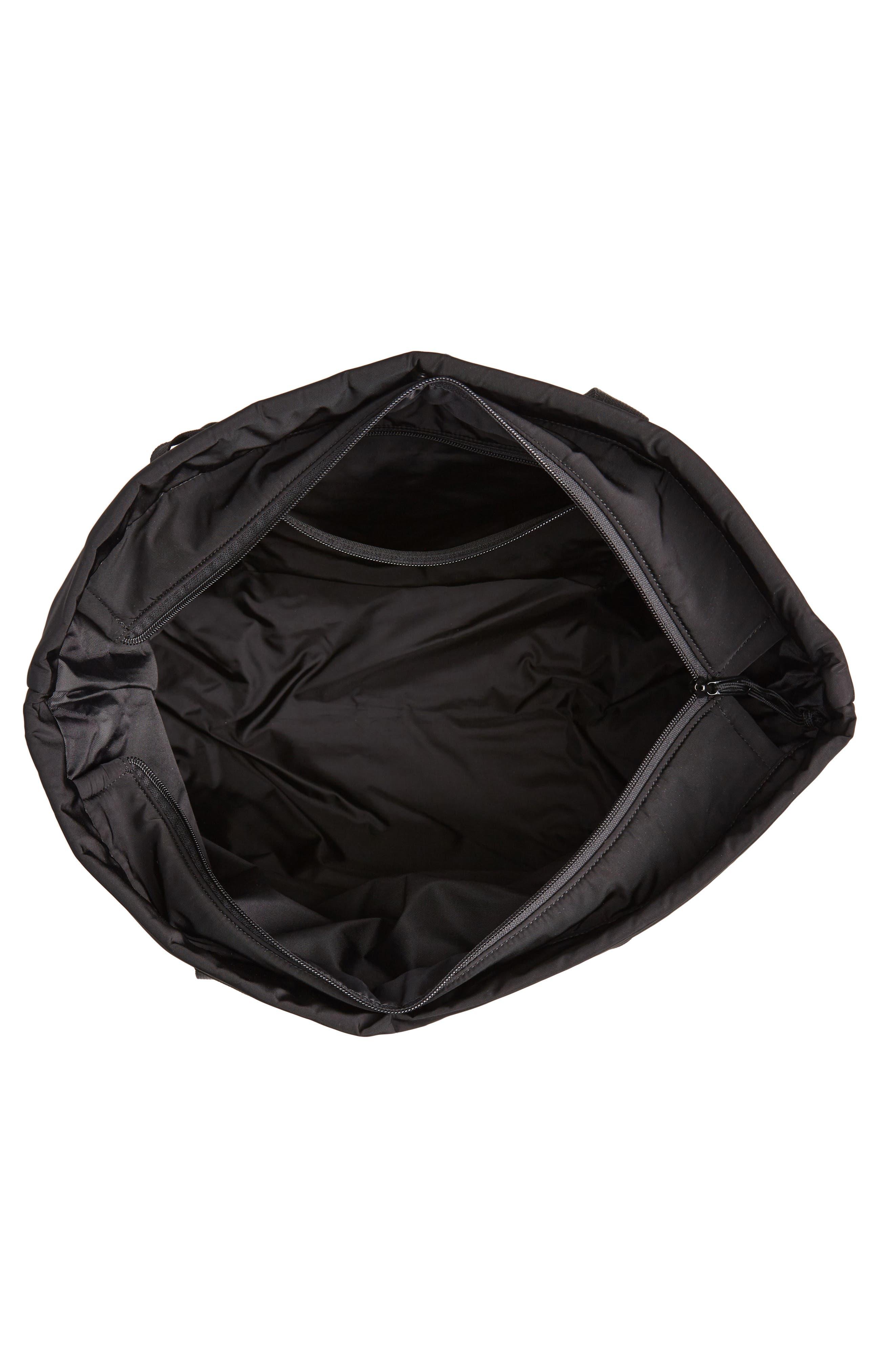 Military Shopper Tote Bag,                             Alternate thumbnail 4, color,                             BLACK / BLACK