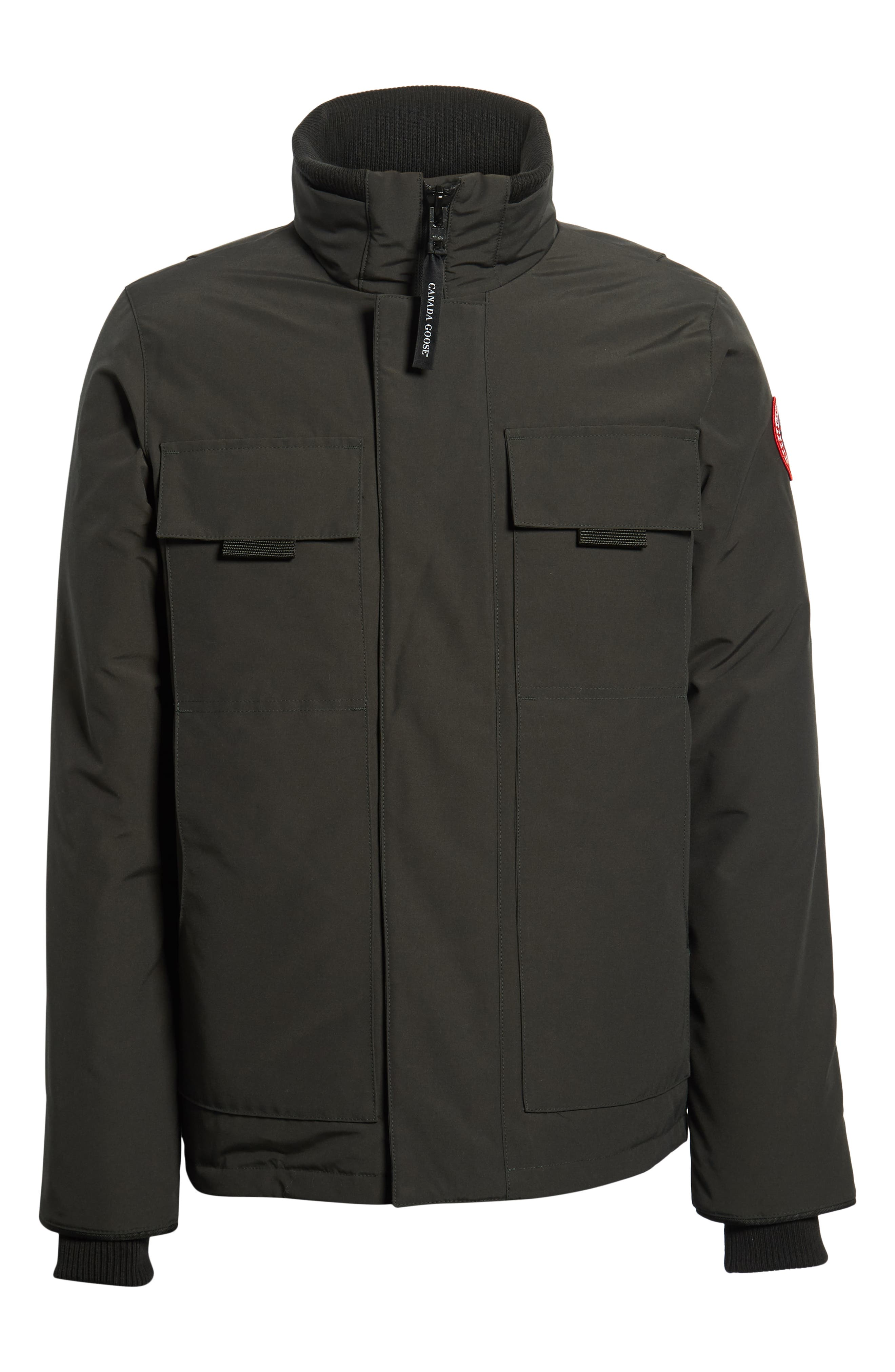 CANADA GOOSE,                             Forester Slim Fit Jacket,                             Alternate thumbnail 6, color,                             BLACK