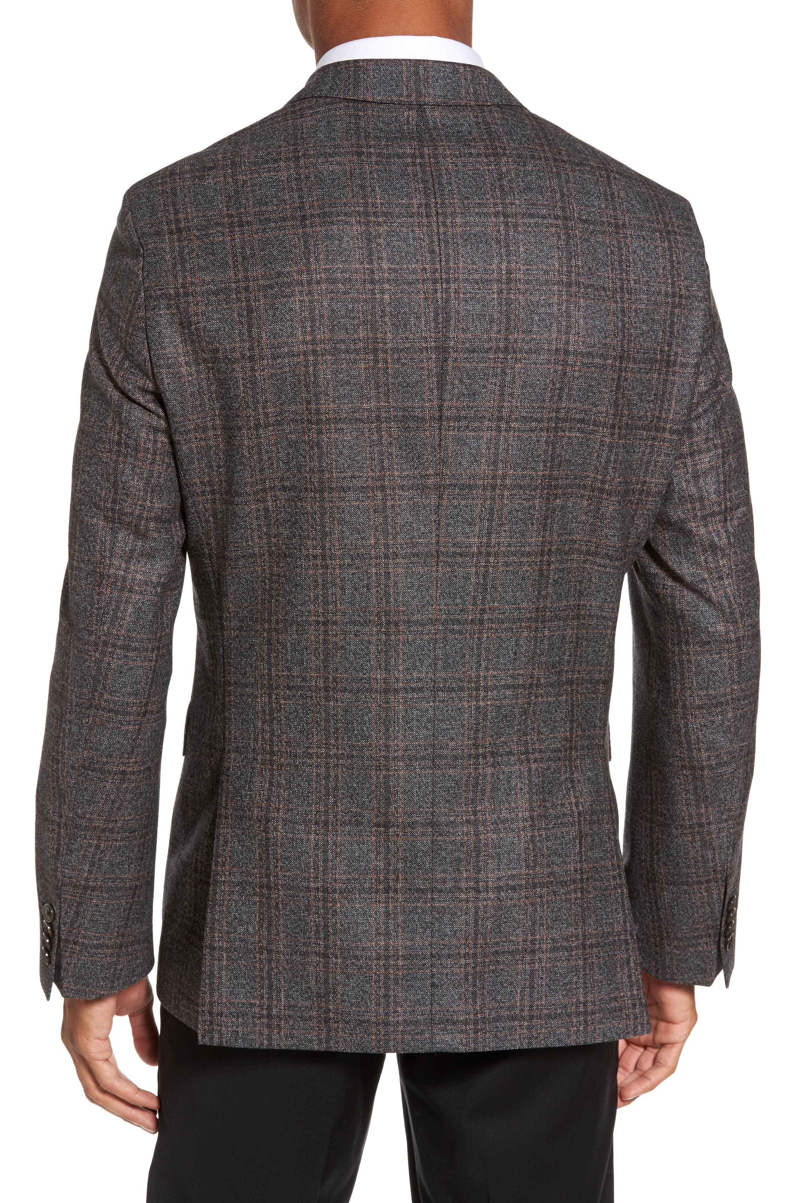 Jeen Trim Fit Plaid Wool Sport Coat,                             Alternate thumbnail 2, color,                             202