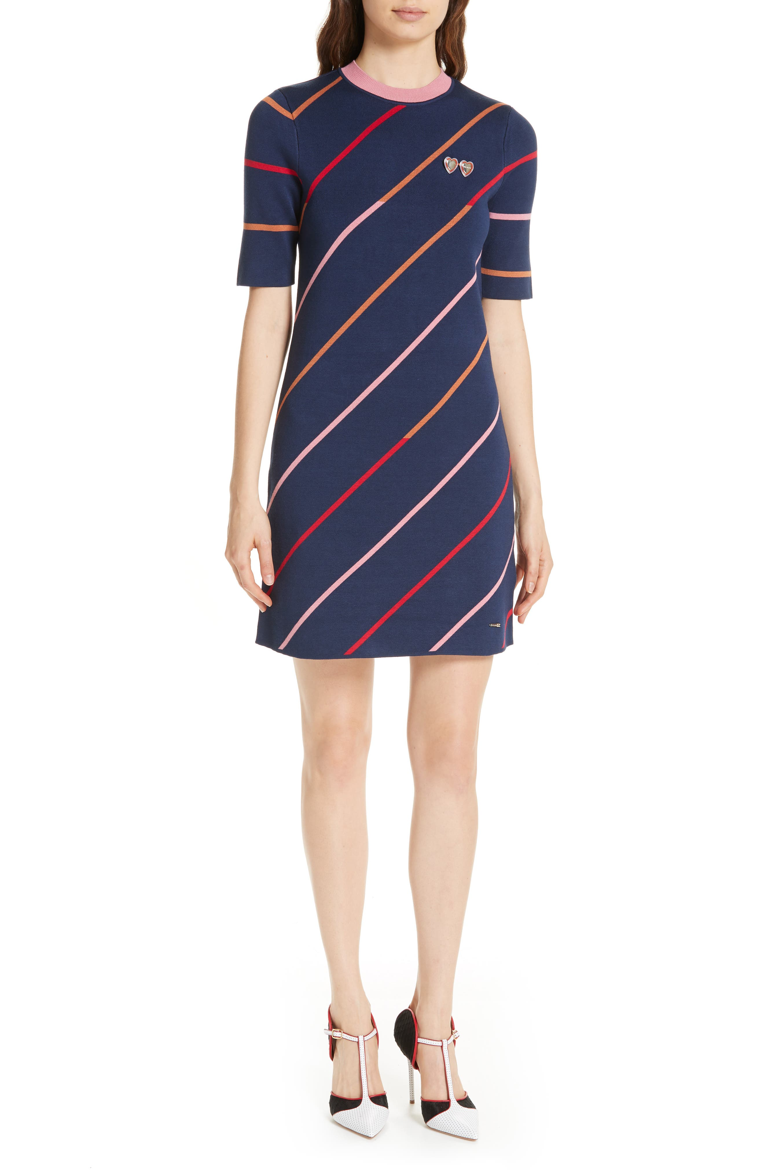 Colour by Numbers Pelinor Stripe Dress,                         Main,                         color, 410