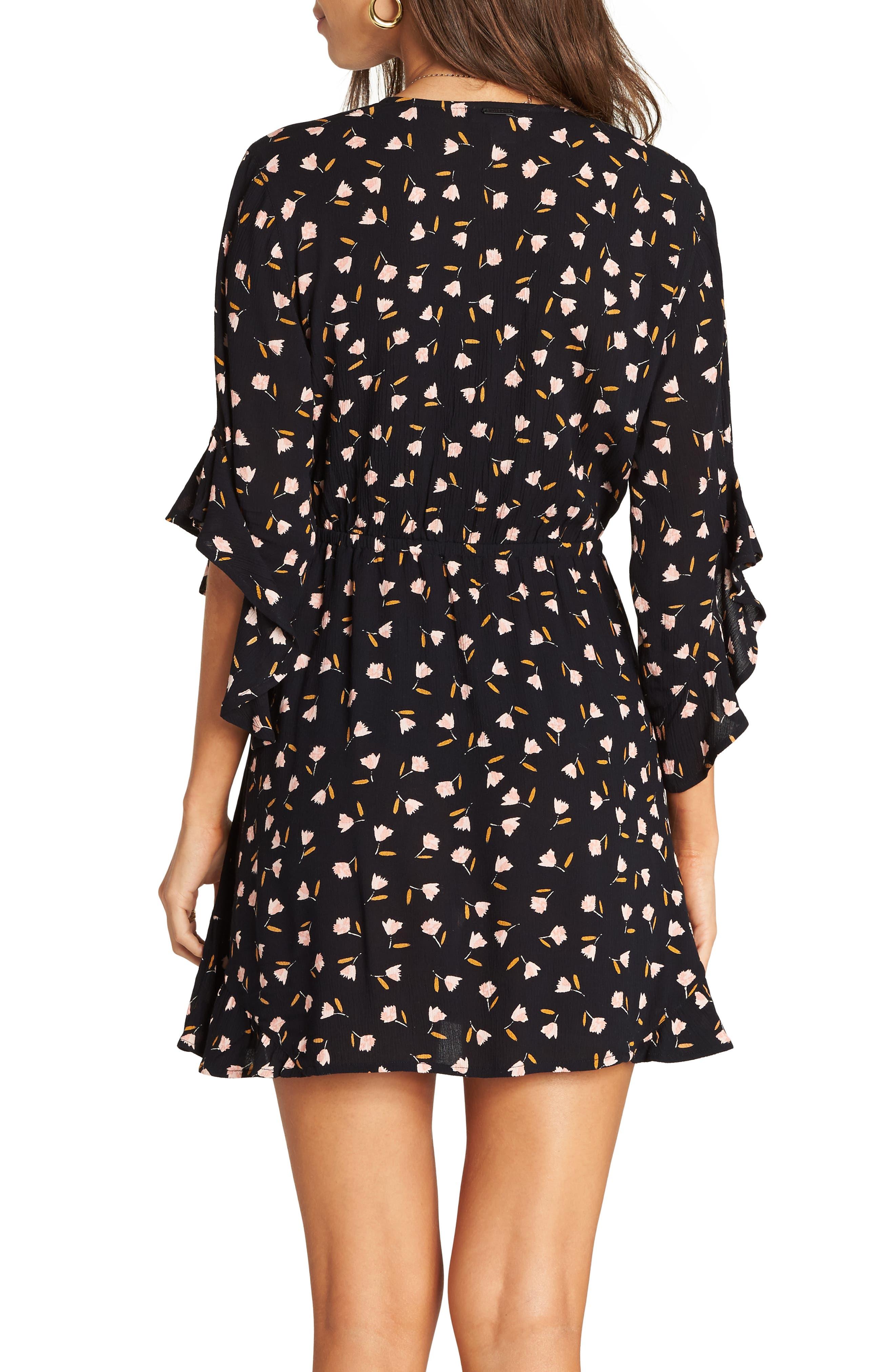 BILLABONG,                             Love Light Floral Print Dress,                             Alternate thumbnail 2, color,                             001