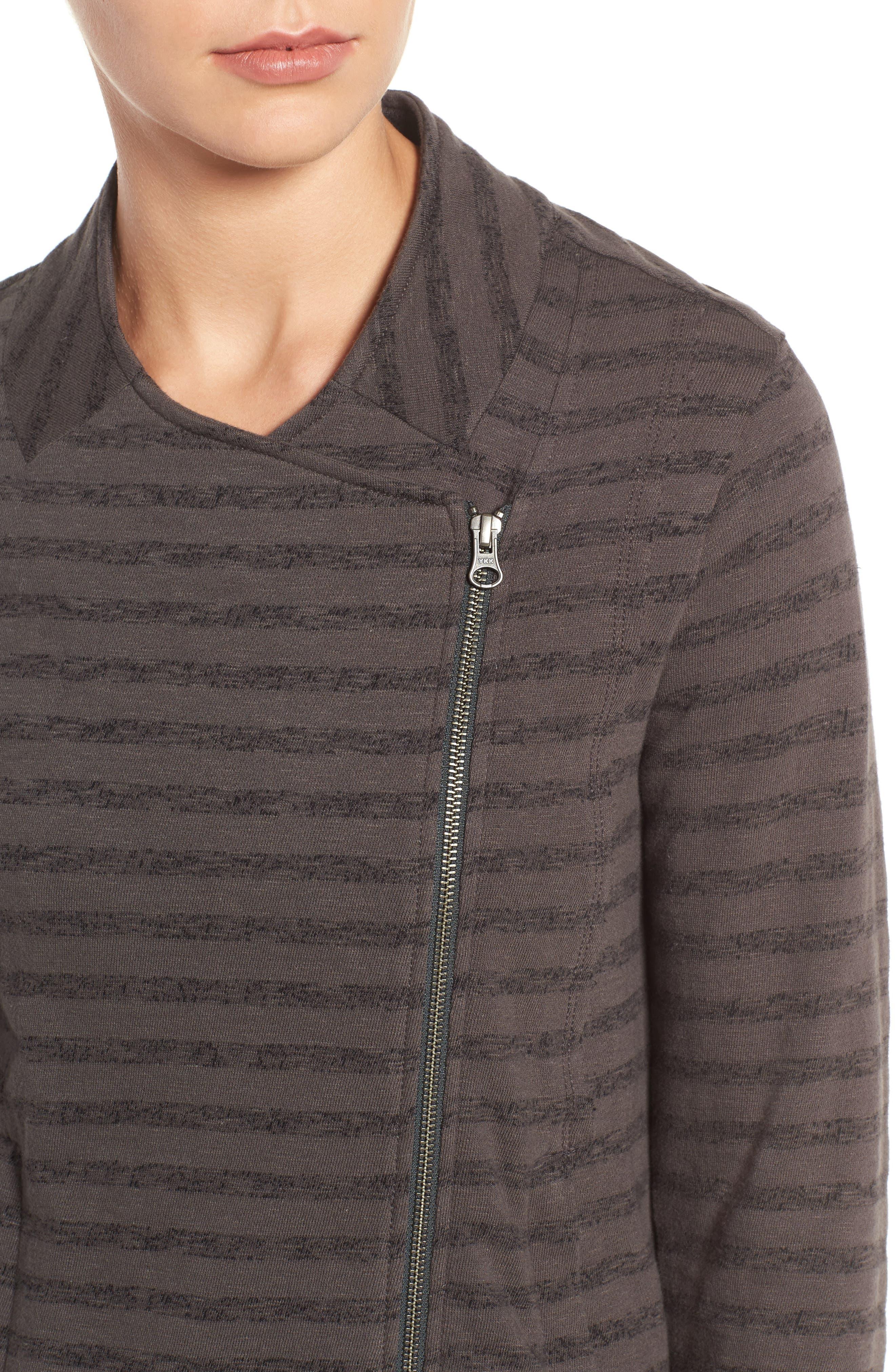CASLON<SUP>®</SUP>,                             Stripe Moto Jacket,                             Alternate thumbnail 4, color,                             021
