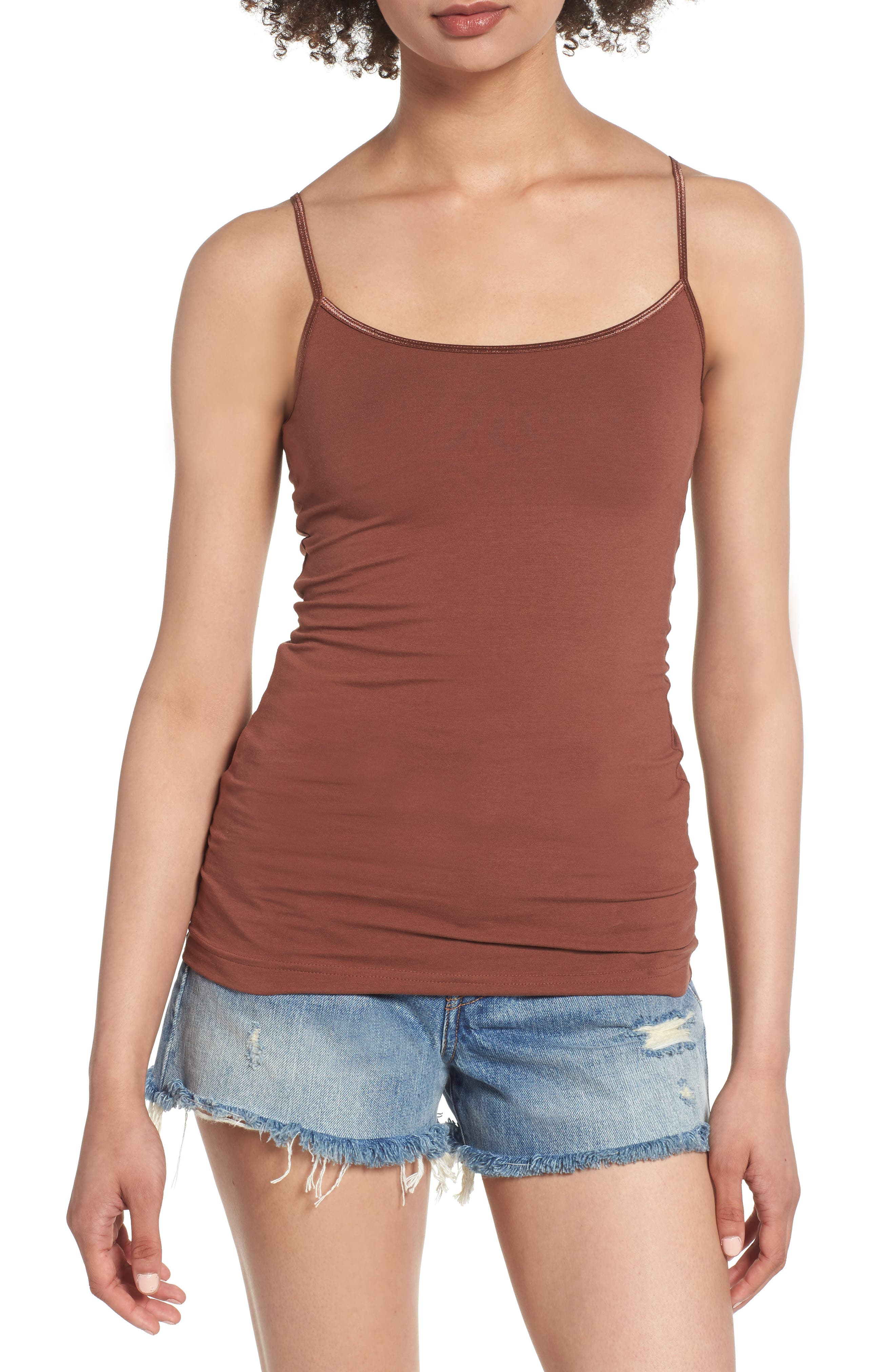 BP., Stretch Camisole, Main thumbnail 1, color, BROWN MINK