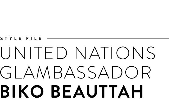 Style file: United Nations Glambassador Biko Beauttah.