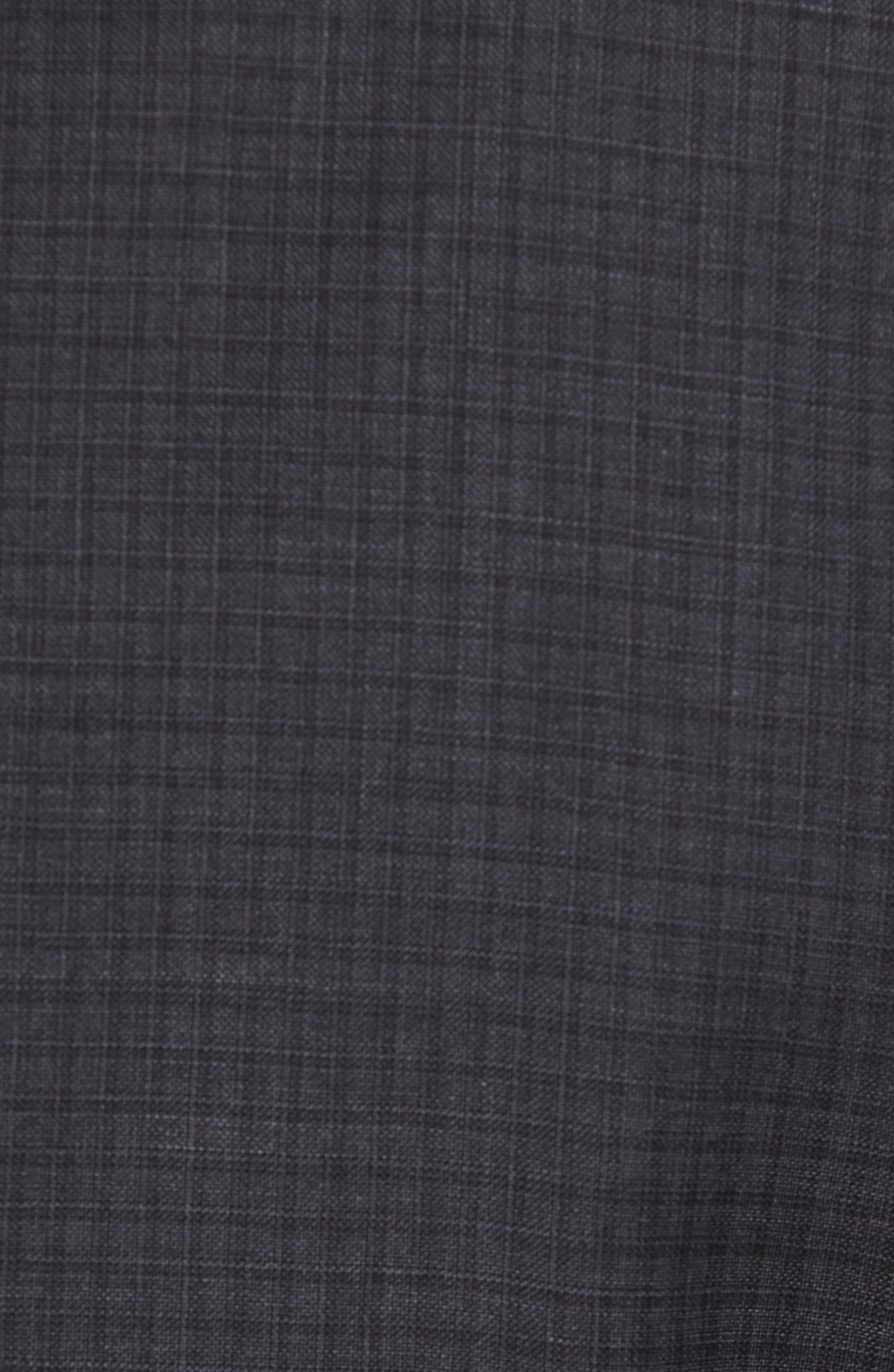 Jay Trim Fit Check Wool Suit,                             Alternate thumbnail 7, color,                             020