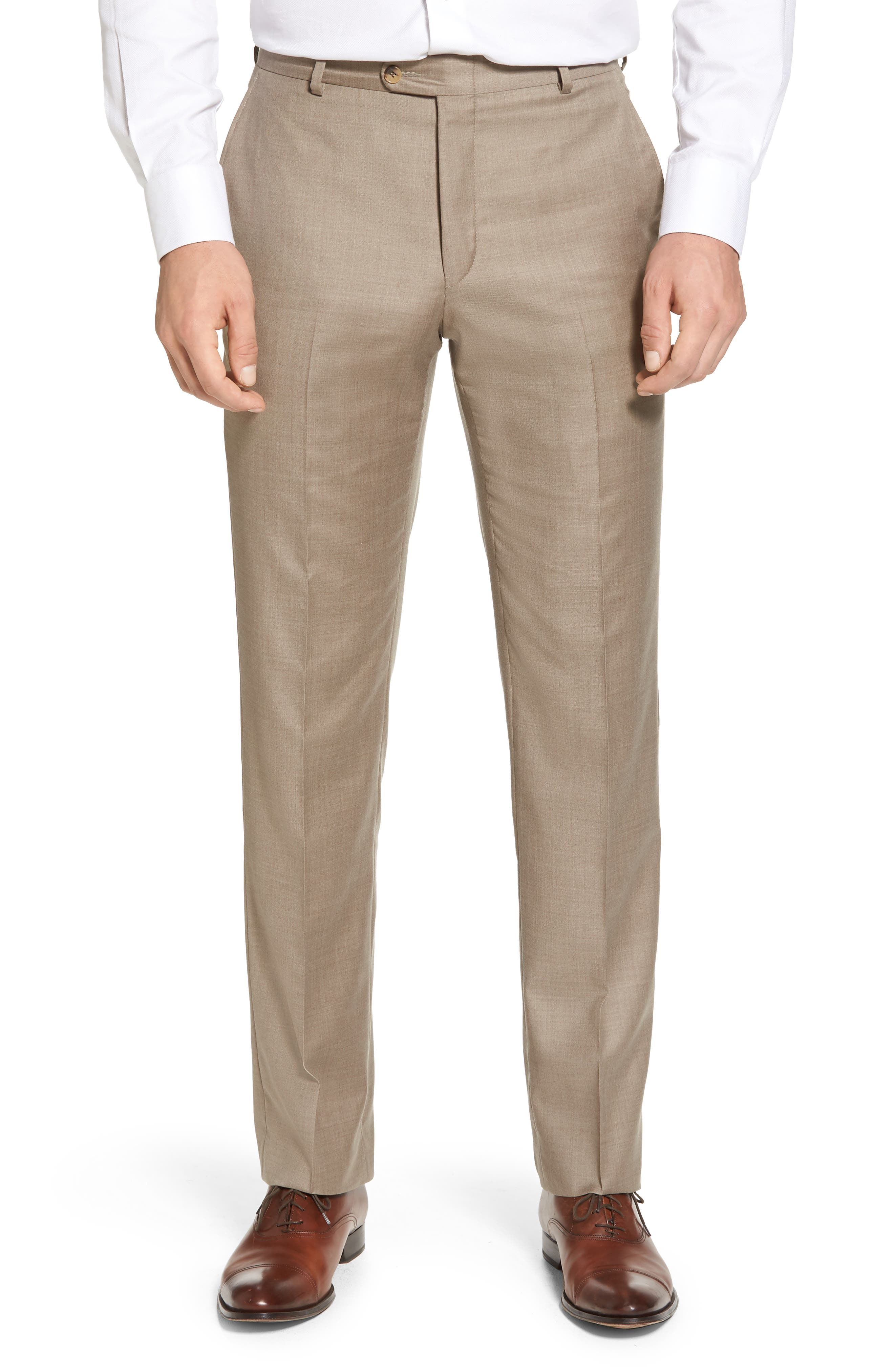 Classic B Fit Solid Wool Suit,                             Alternate thumbnail 5, color,                             250