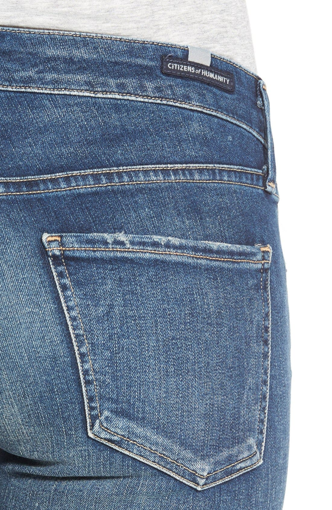 'Arielle' Skinny Jeans,                             Alternate thumbnail 5, color,                             400