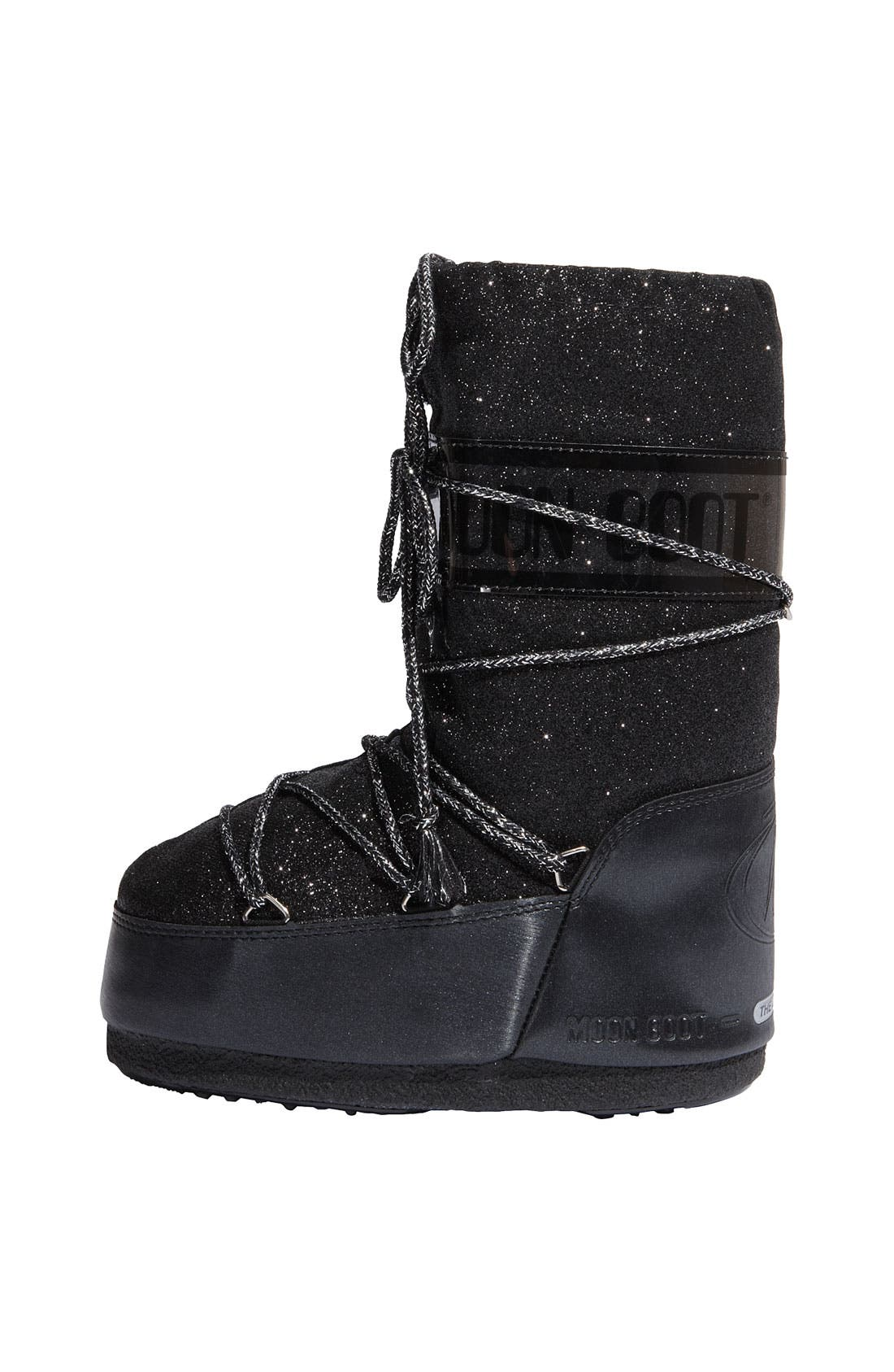 'Delux' Moon Boot<sup>®</sup>,                             Alternate thumbnail 4, color,                             001
