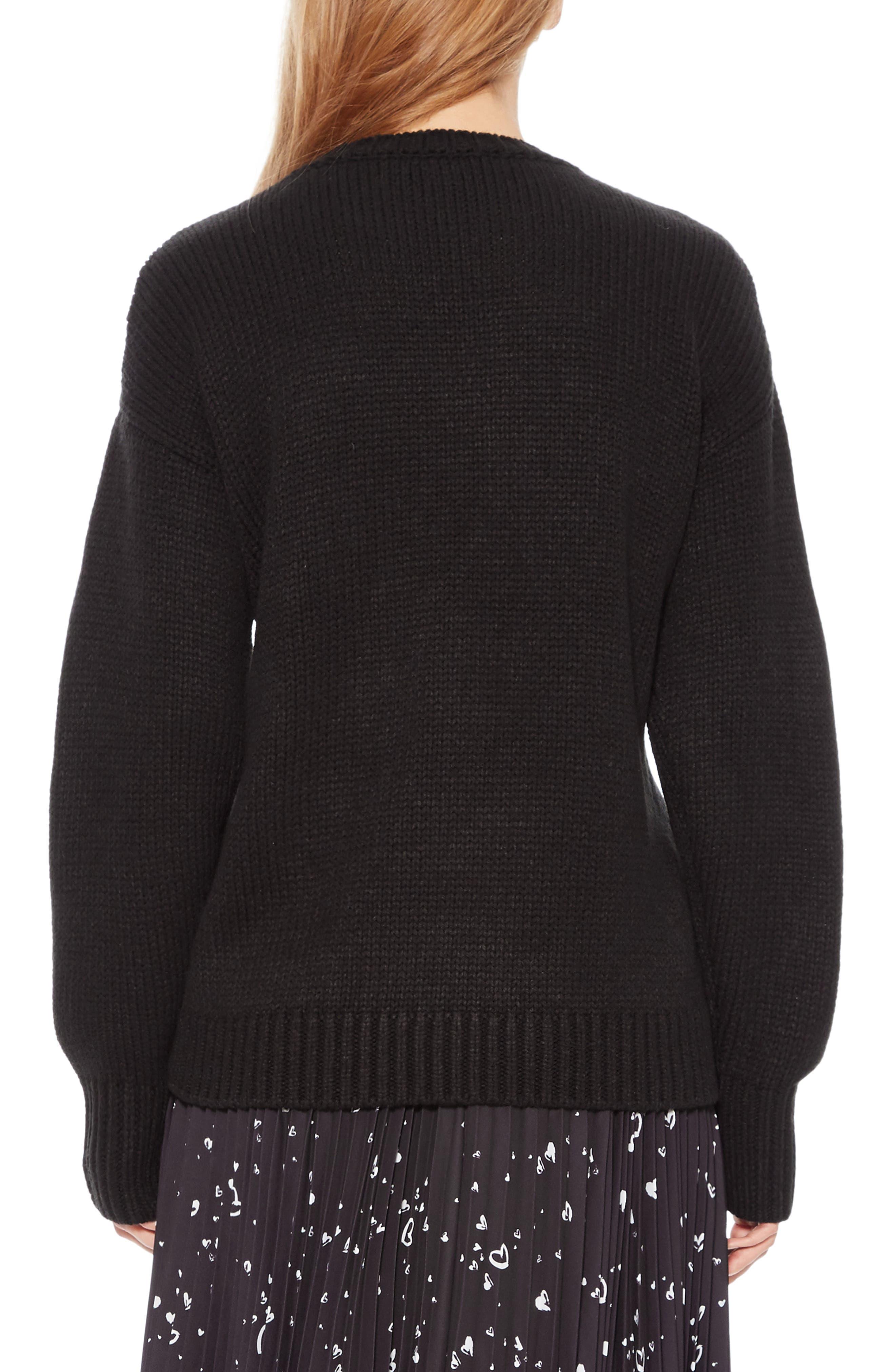 Olive Sweater,                             Alternate thumbnail 2, color,                             BLACK IVORY
