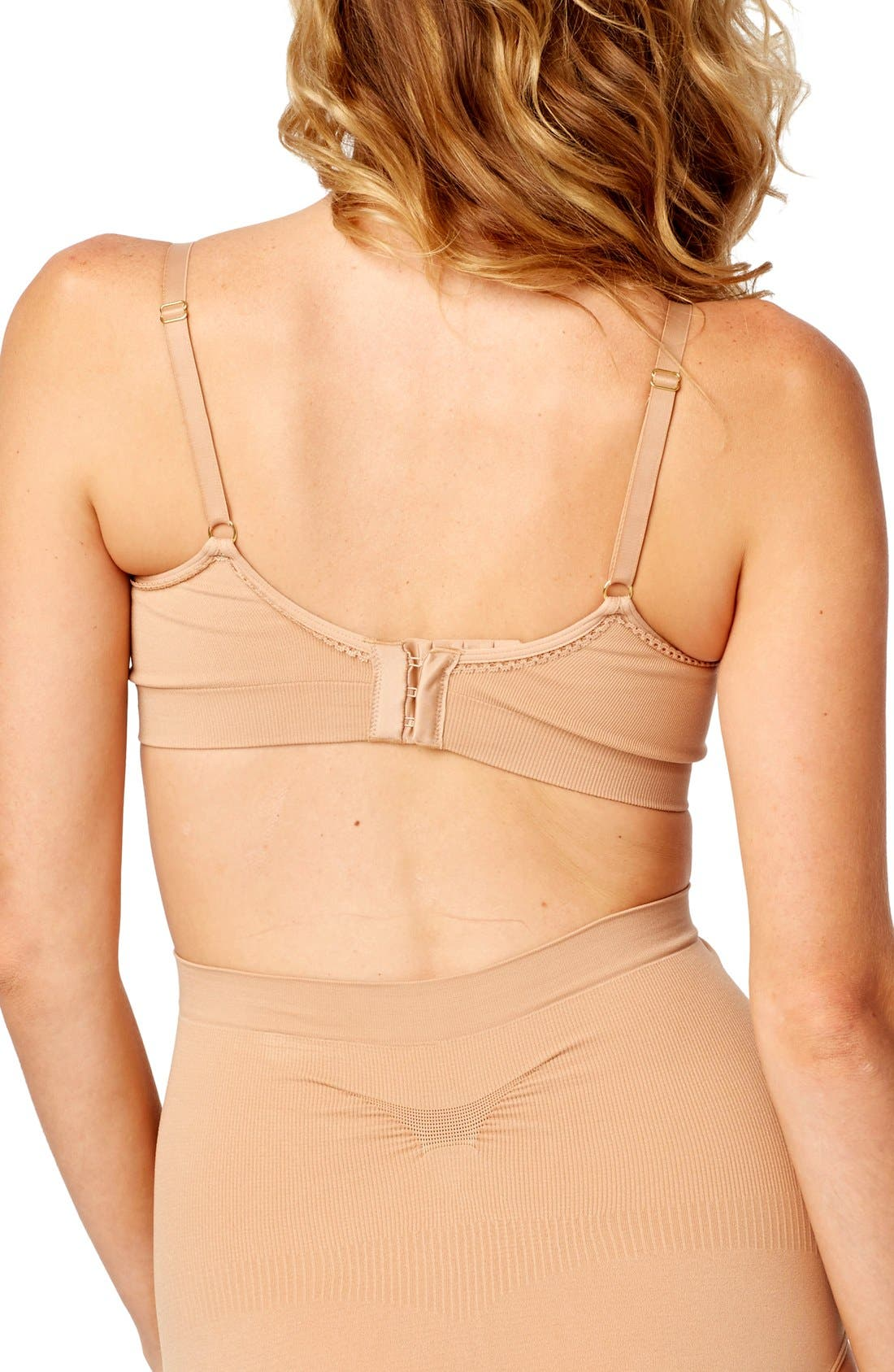 Seamless Sleep Maternity Bra,                             Alternate thumbnail 2, color,                             NUDE