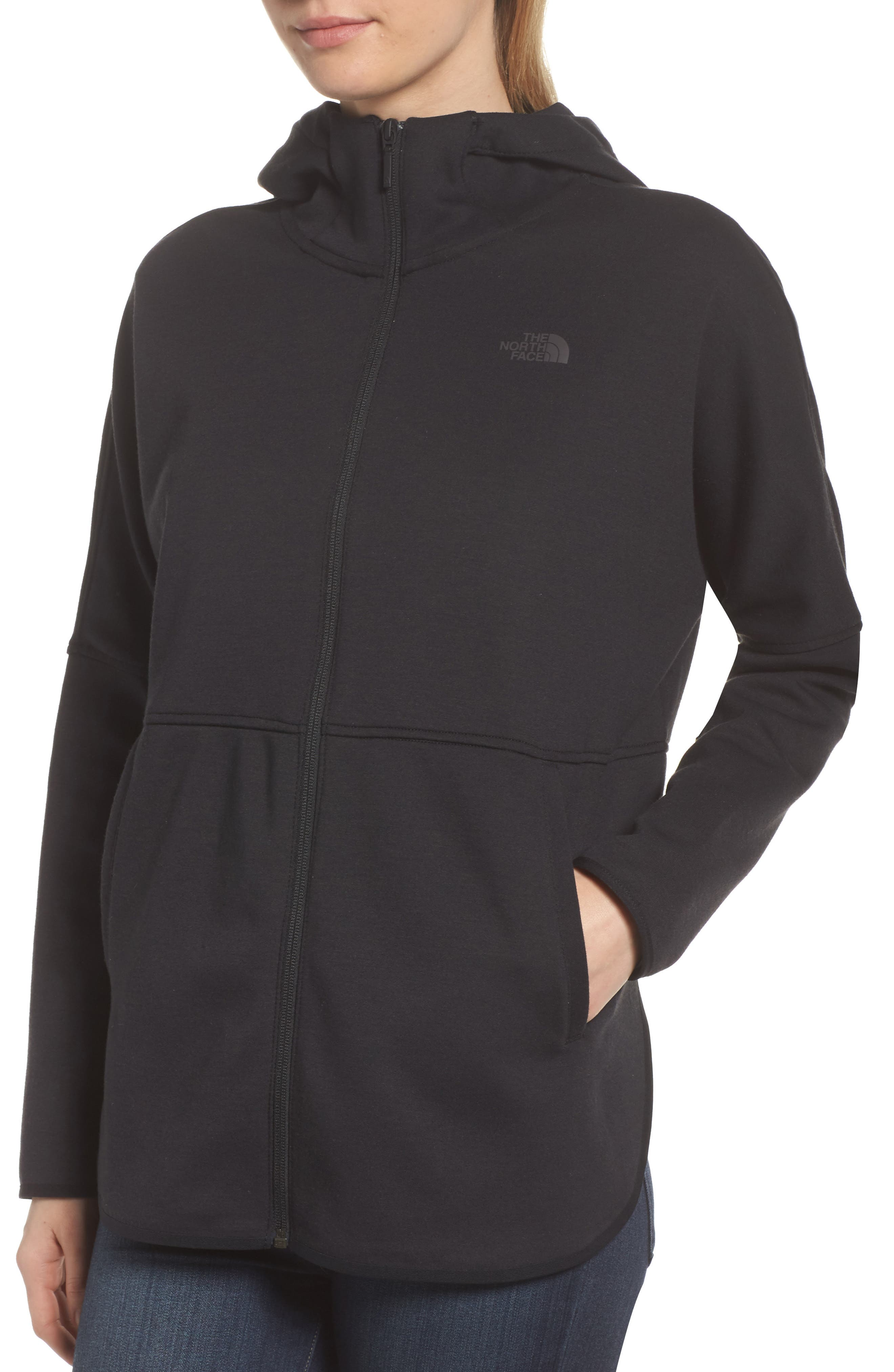 THE NORTH FACE,                             Slacker Hooded Jacket,                             Alternate thumbnail 4, color,                             001
