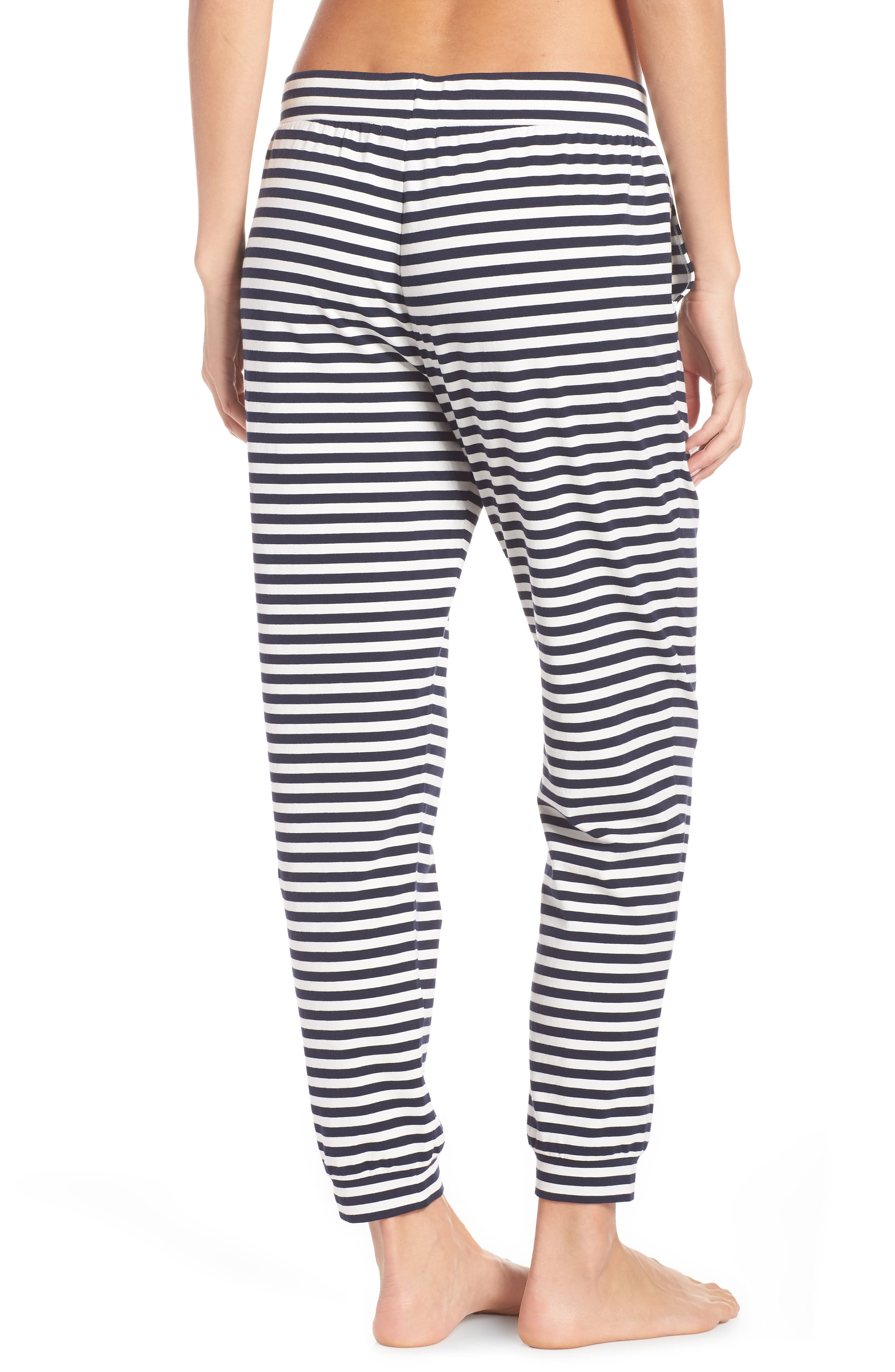 Dreamy Stripe Pajama Jogger Pants,                             Alternate thumbnail 2, color,                             IVORY NAVY