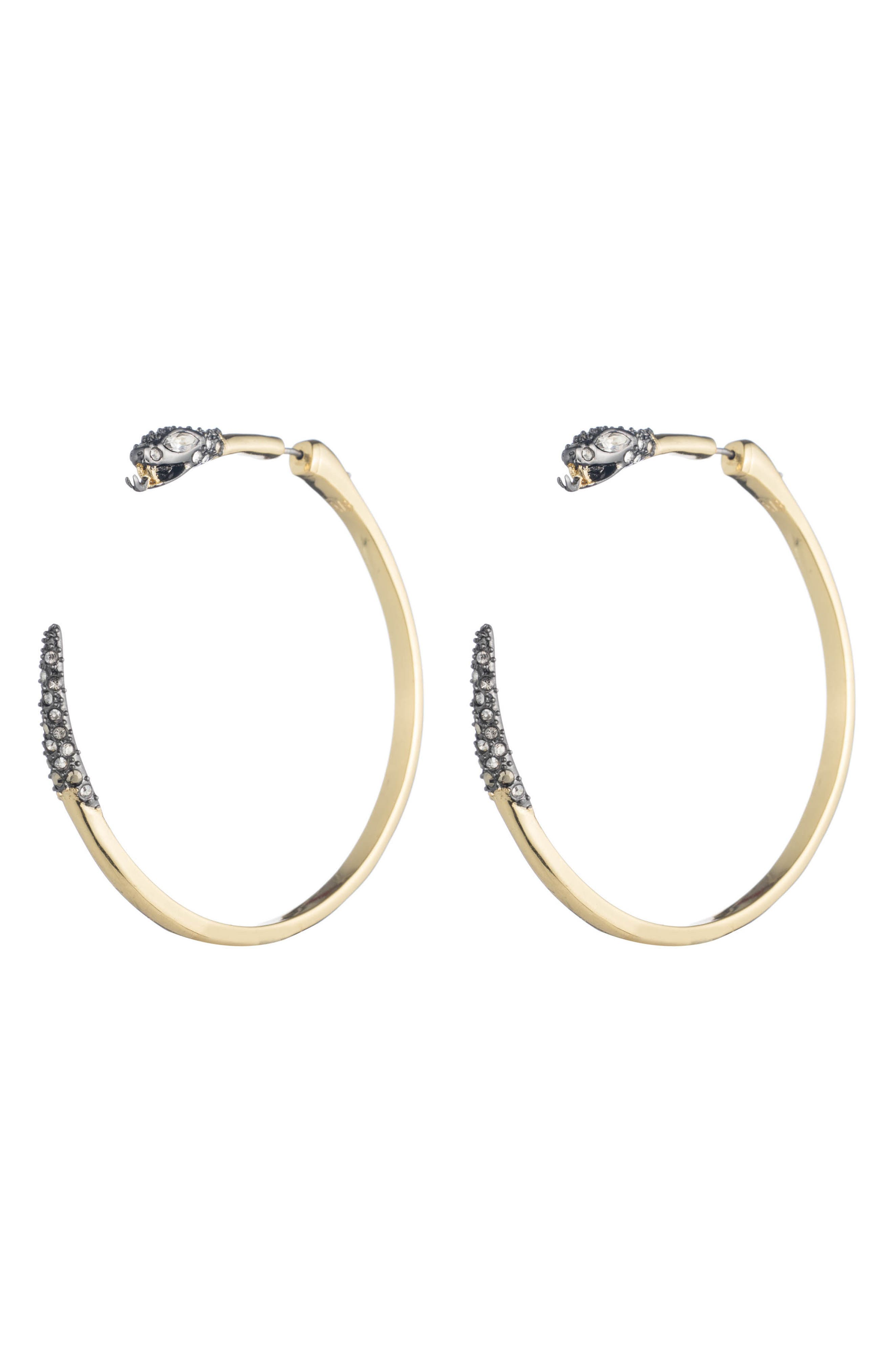 Elements Snake Hoop Earrings,                         Main,                         color, GOLD