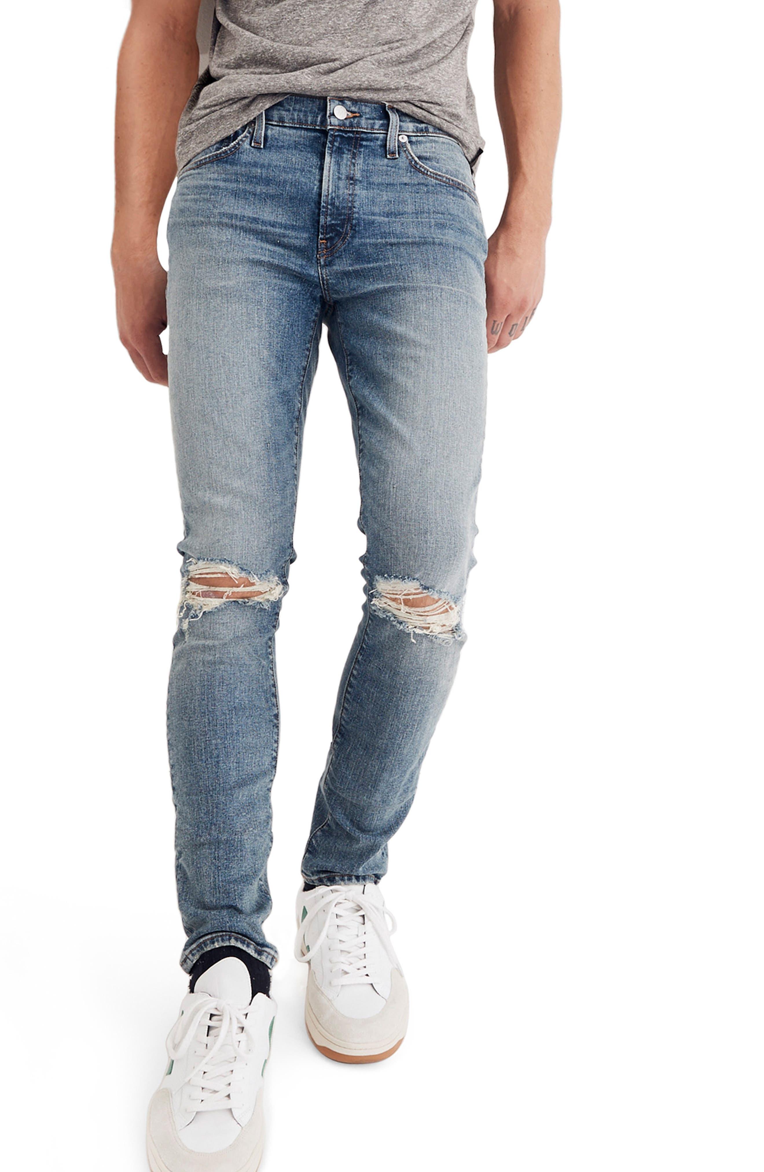 Skinny Fit Jeans,                             Main thumbnail 1, color,                             VINTAGE LIGHT