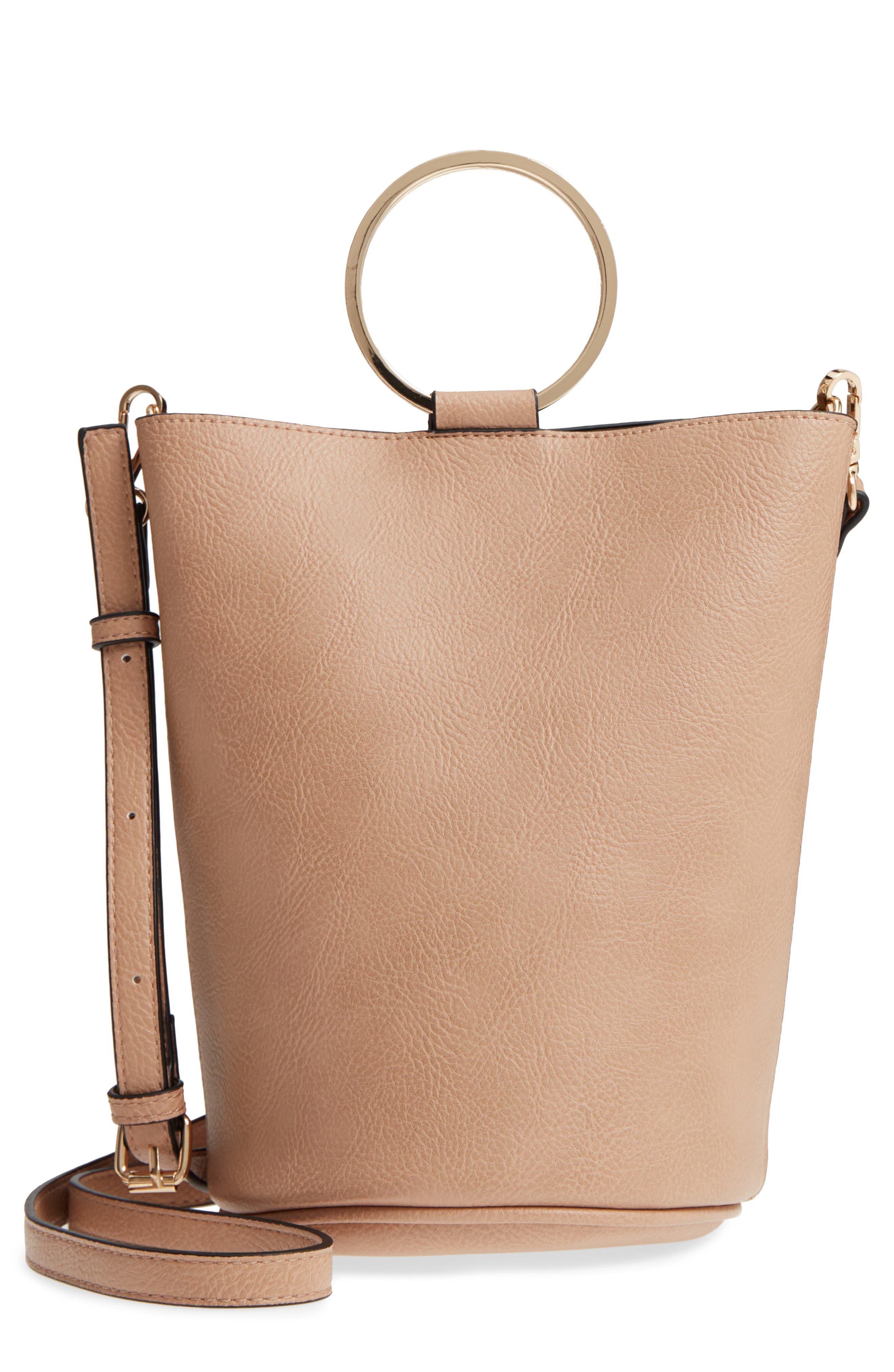 Mali + Lili Ilia Vegan Leather Ring Handle Bucket Bag,                             Main thumbnail 2, color,