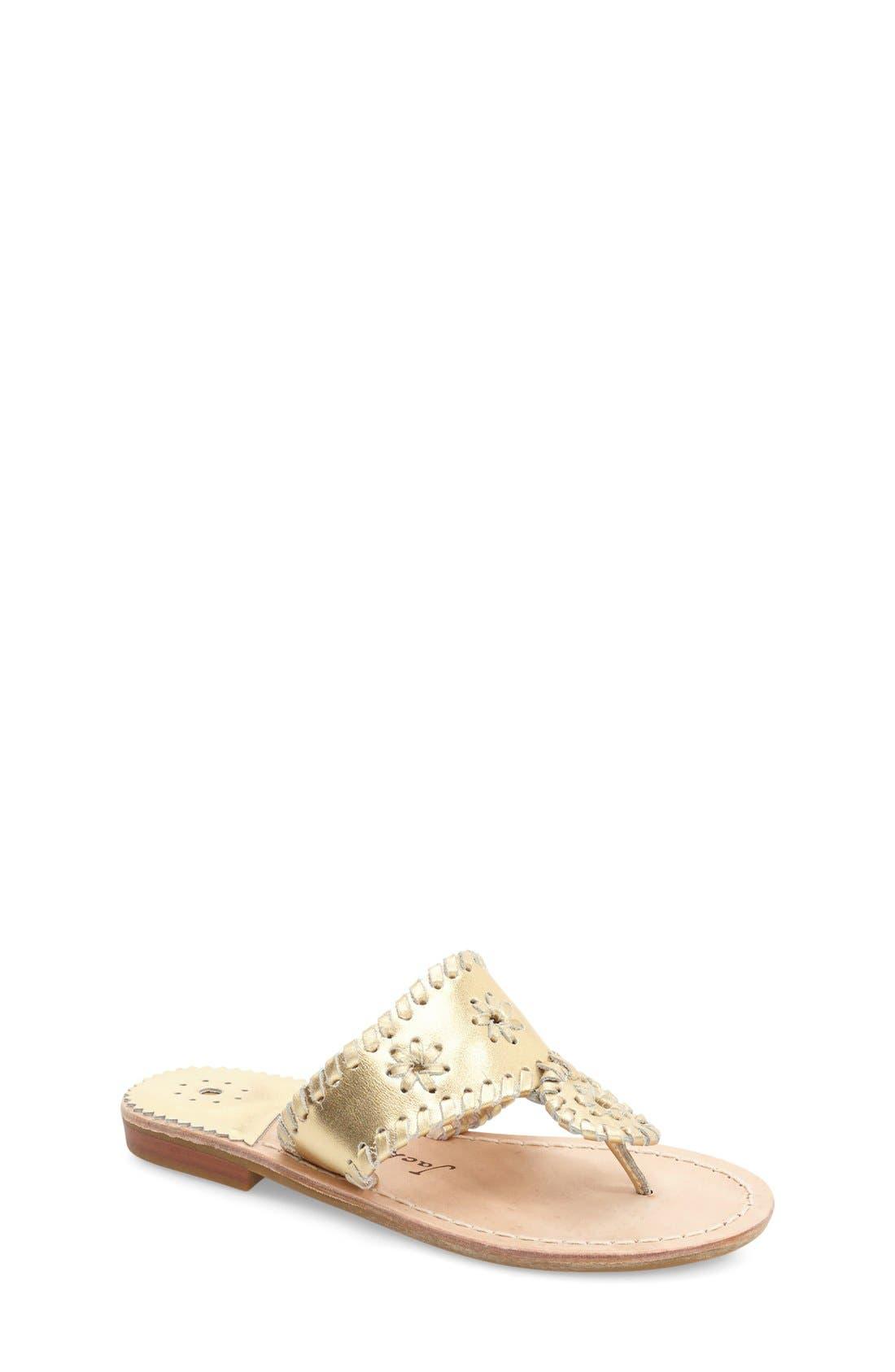 'Miss Hamptons' Sandal,                             Main thumbnail 1, color,                             GOLD