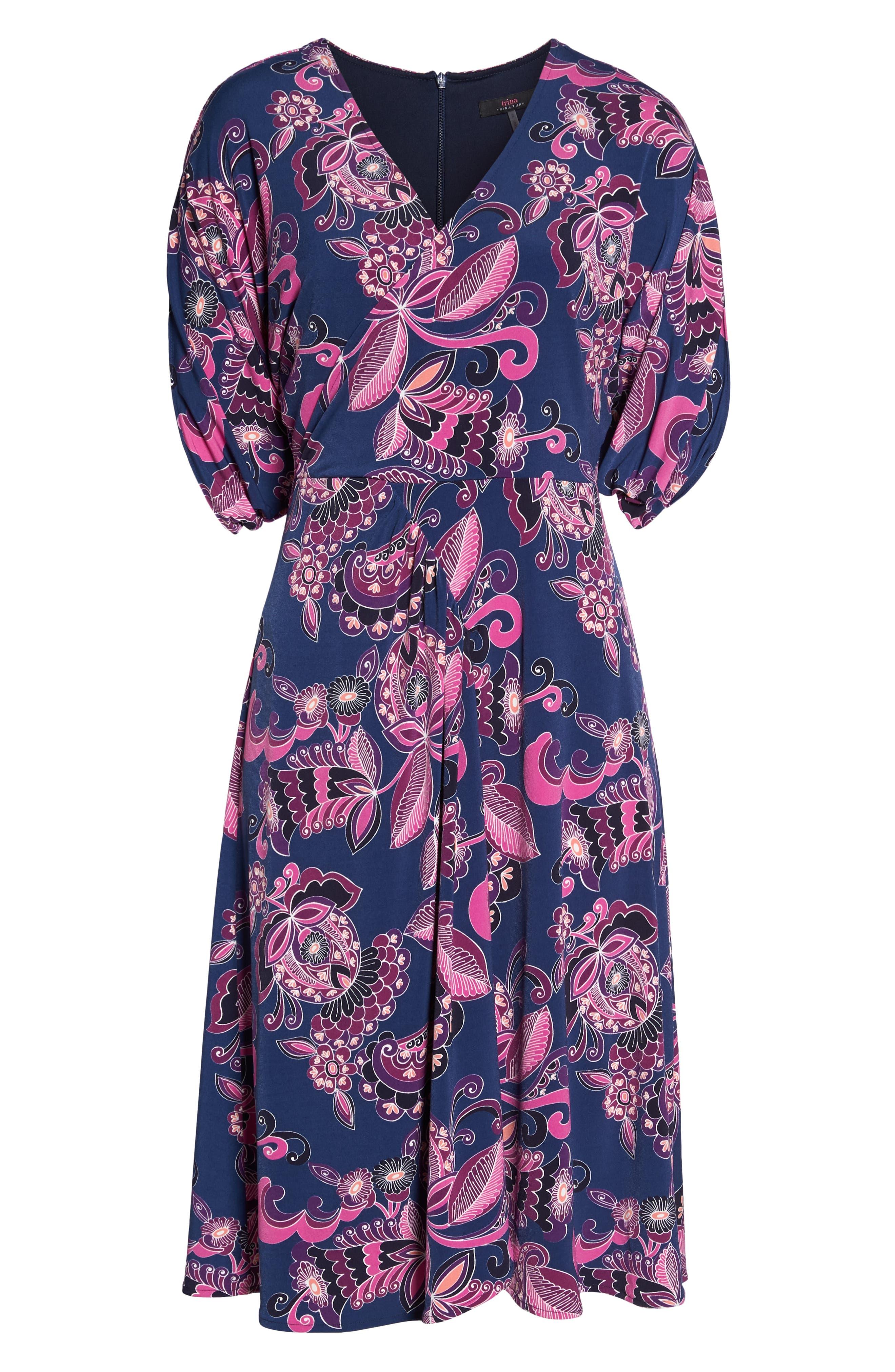 Payton Print Jersey Dress,                             Alternate thumbnail 7, color,                             MULTI
