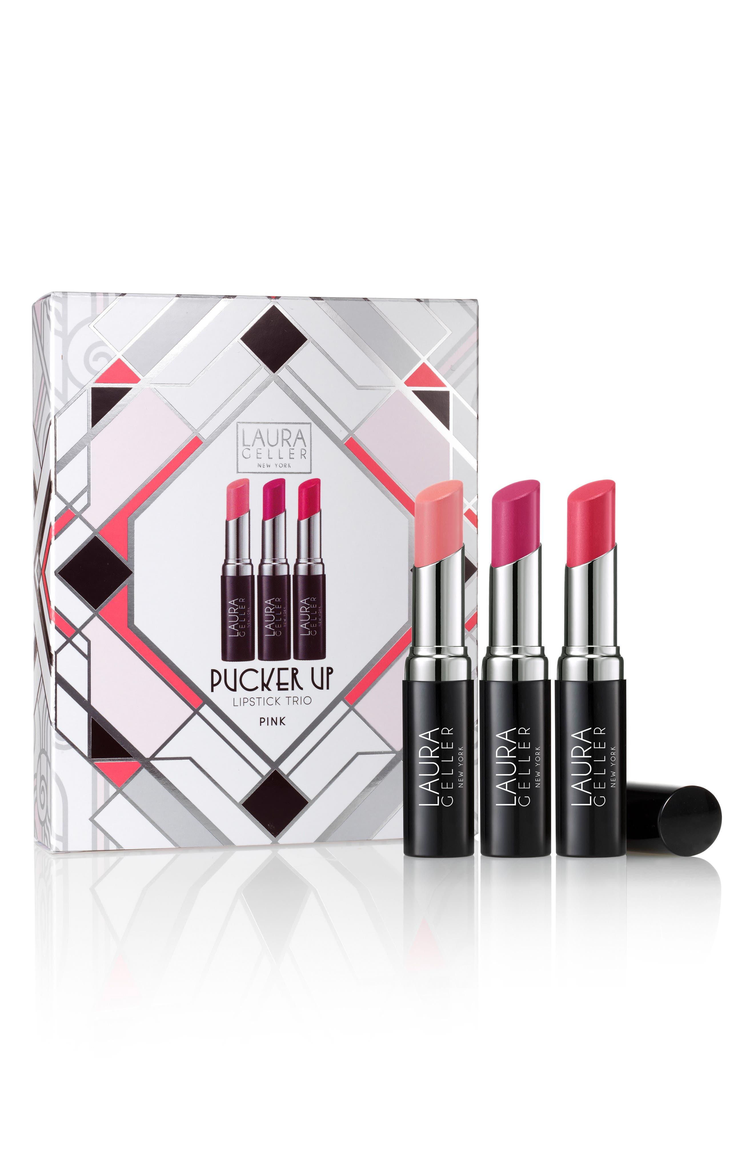 Pucker Up Nudes Lipstick Trio,                             Alternate thumbnail 4, color,