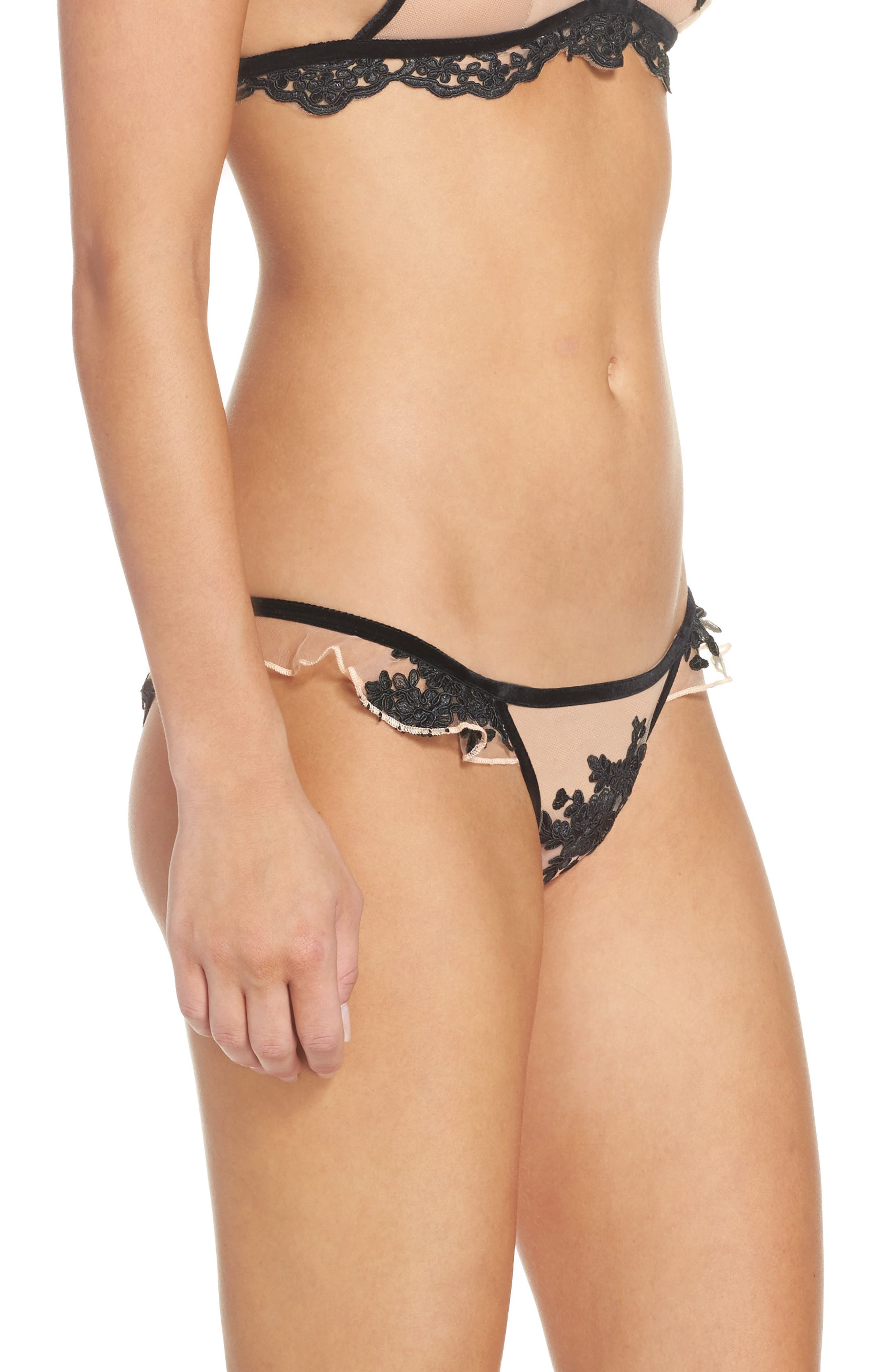 Noemi Ruffle Panties,                             Alternate thumbnail 3, color,                             001