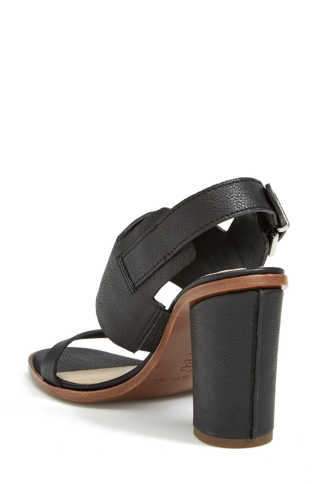 VIA SPIGA,                             'Baris' Leather Slingback Sandal,                             Alternate thumbnail 3, color,                             001