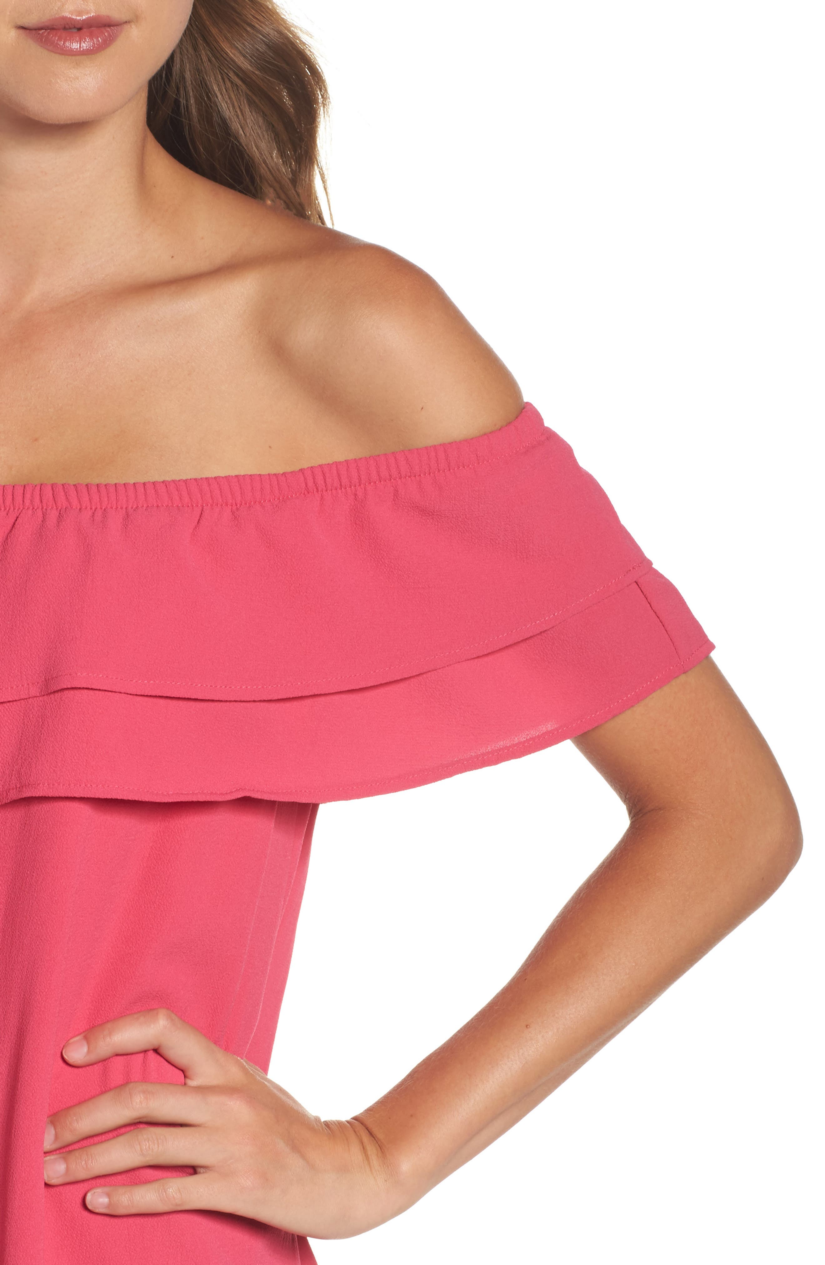 Off the Shoulder Ruffle Dress,                             Alternate thumbnail 31, color,