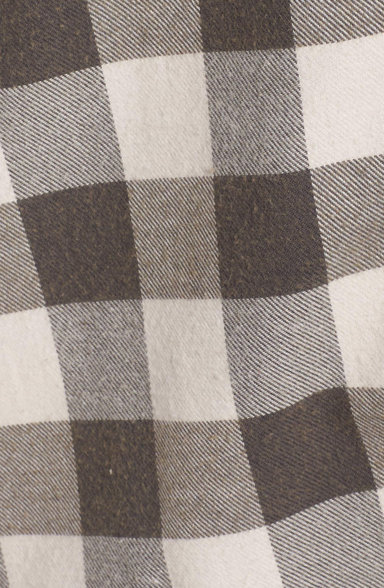 Plaid Cotton Blend Nightshirt,                             Alternate thumbnail 45, color,