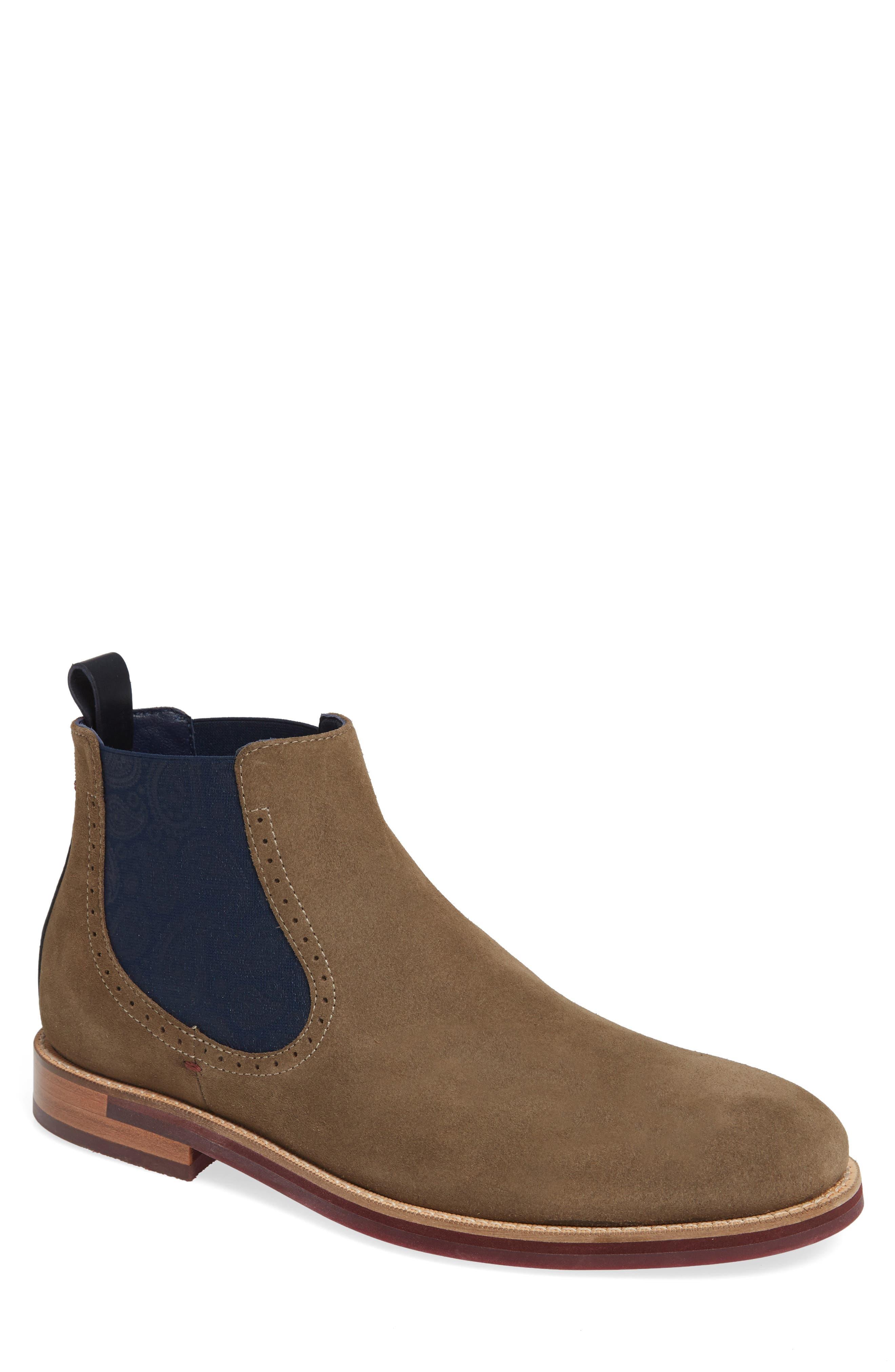 Ted Baker London Secaint Chelsea Boot- Grey
