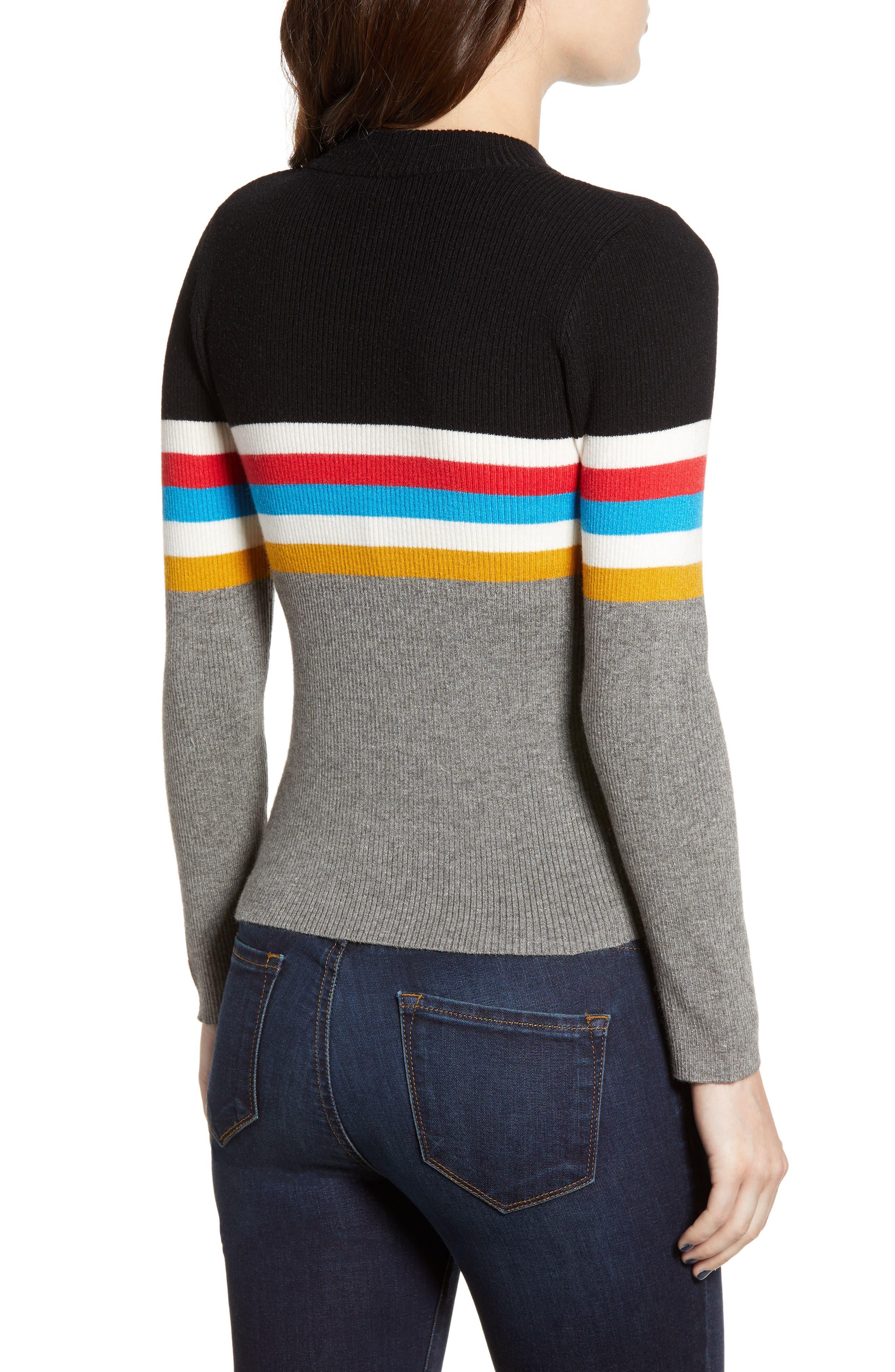 Stripe Sweater,                             Alternate thumbnail 2, color,                             038