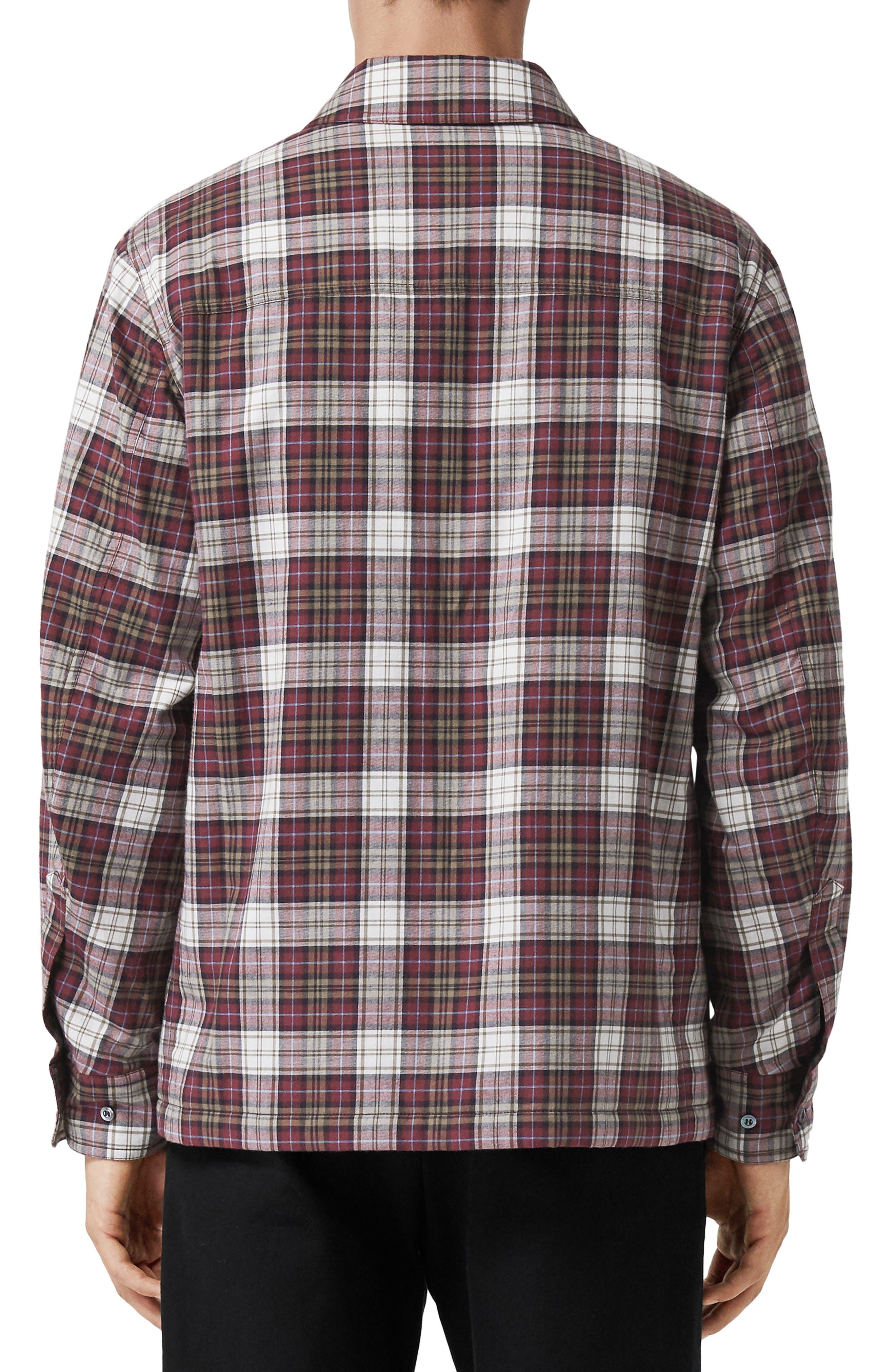 Barlow Plaid Flannel Shirt,                             Alternate thumbnail 3, color,                             600