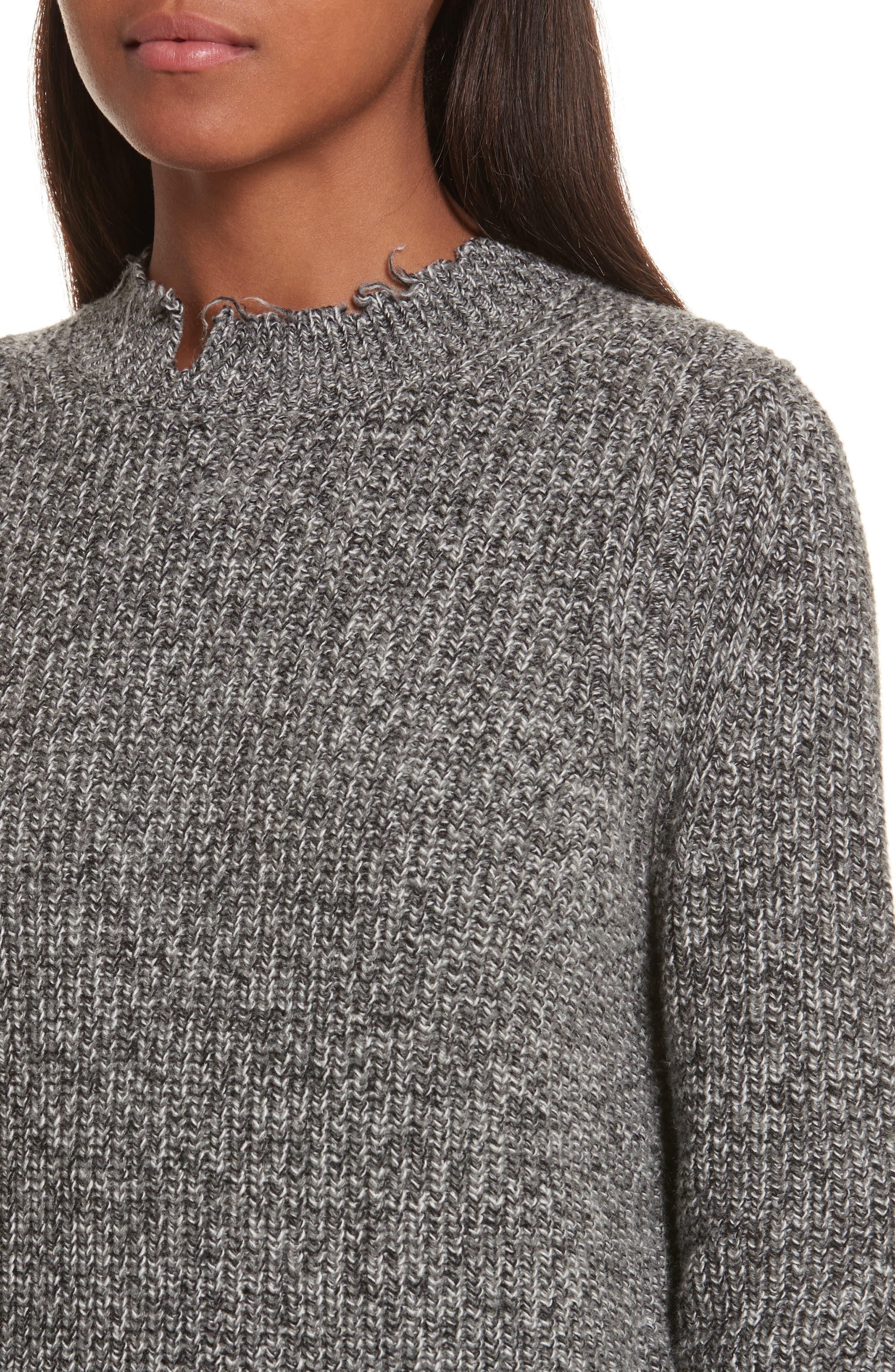 Grunge Marl Sweater,                             Alternate thumbnail 4, color,                             020