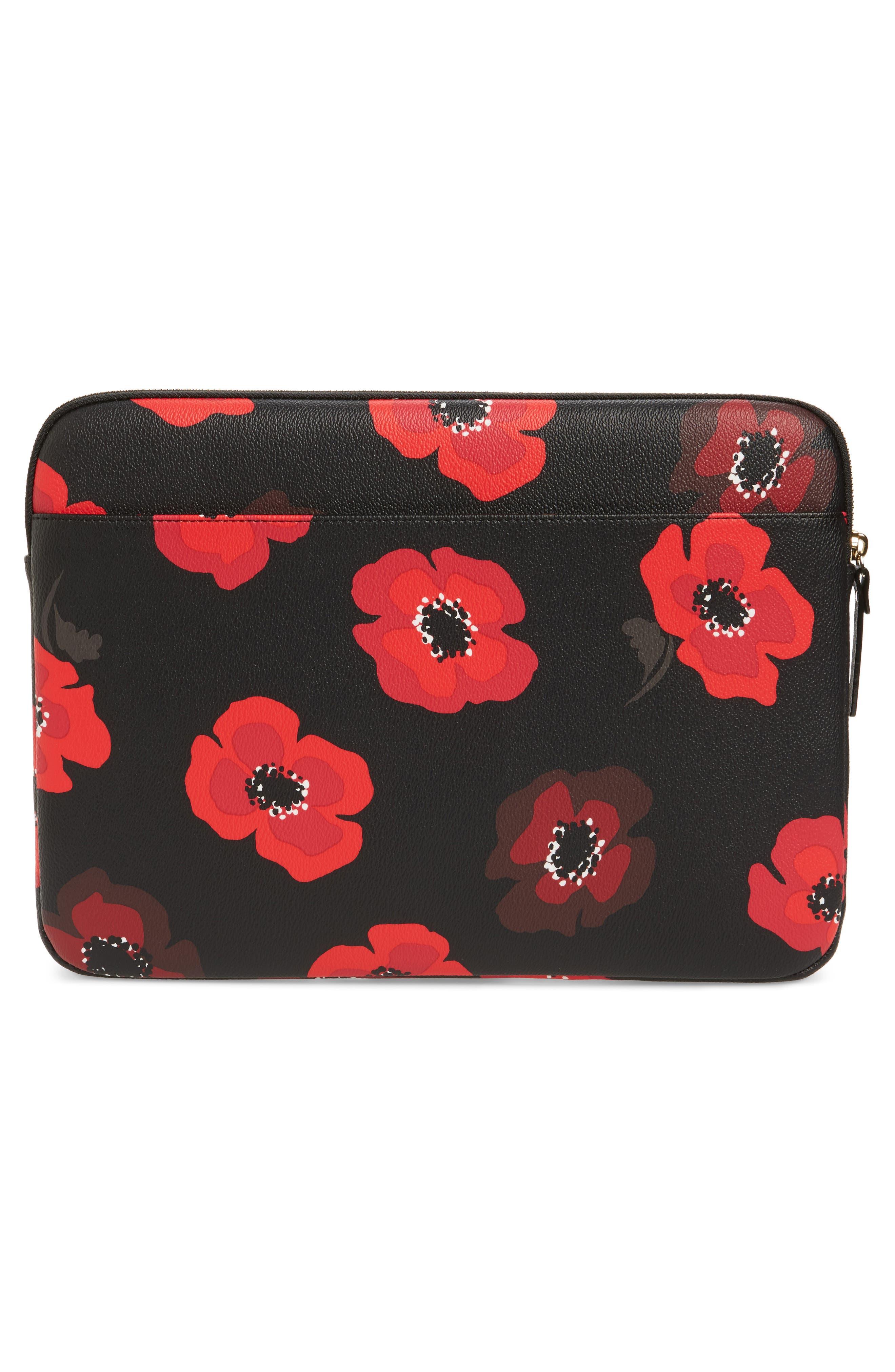 poppy 13-inch laptop sleeve,                             Alternate thumbnail 4, color,                             002