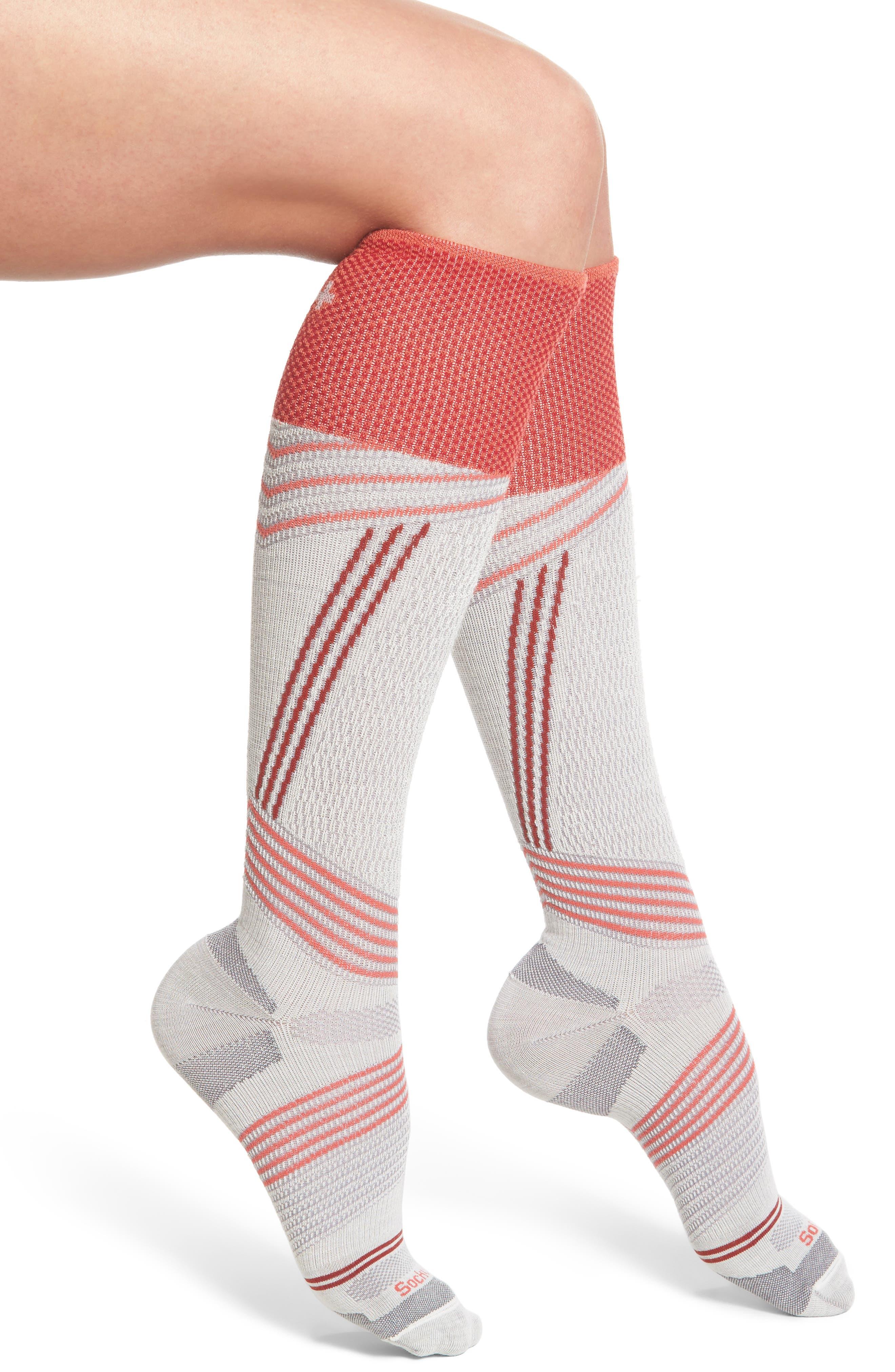 Ski Alpine Racer Compression Knee Socks,                             Main thumbnail 2, color,