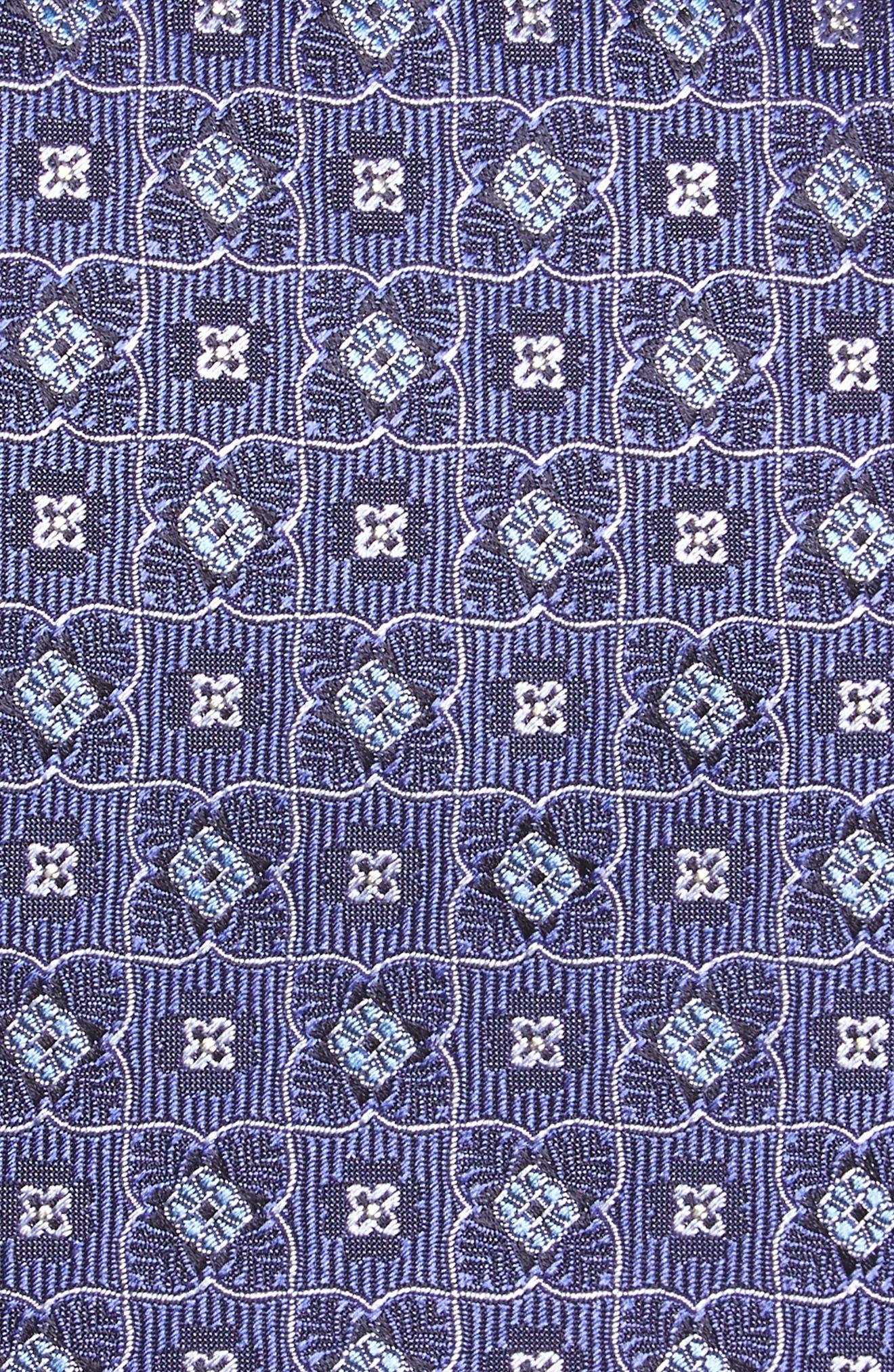 Geometric Silk Tie,                             Alternate thumbnail 2, color,                             530