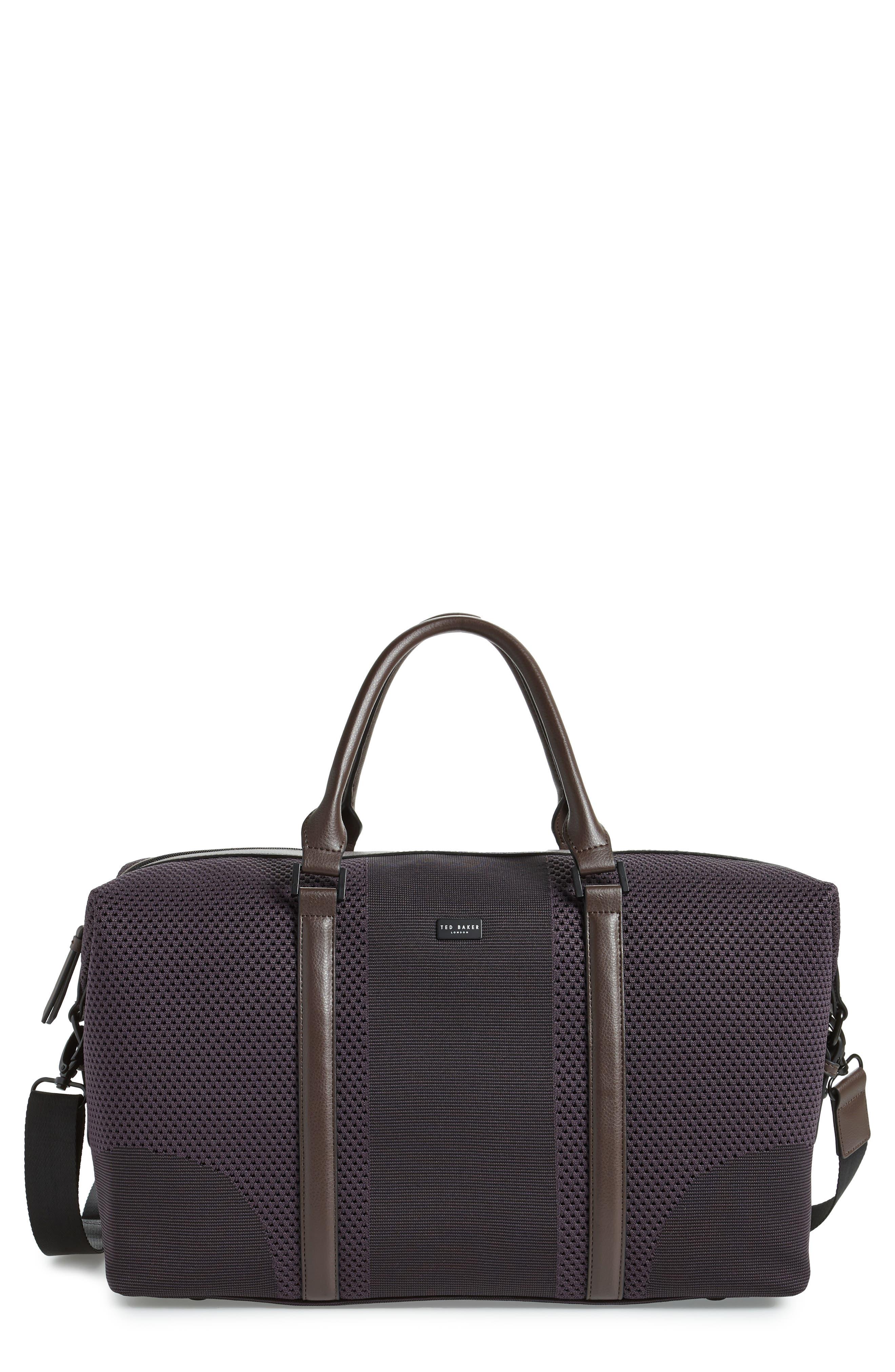 TED BAKER LONDON,                             Knit Holdall Duffel Bag,                             Main thumbnail 1, color,                             531