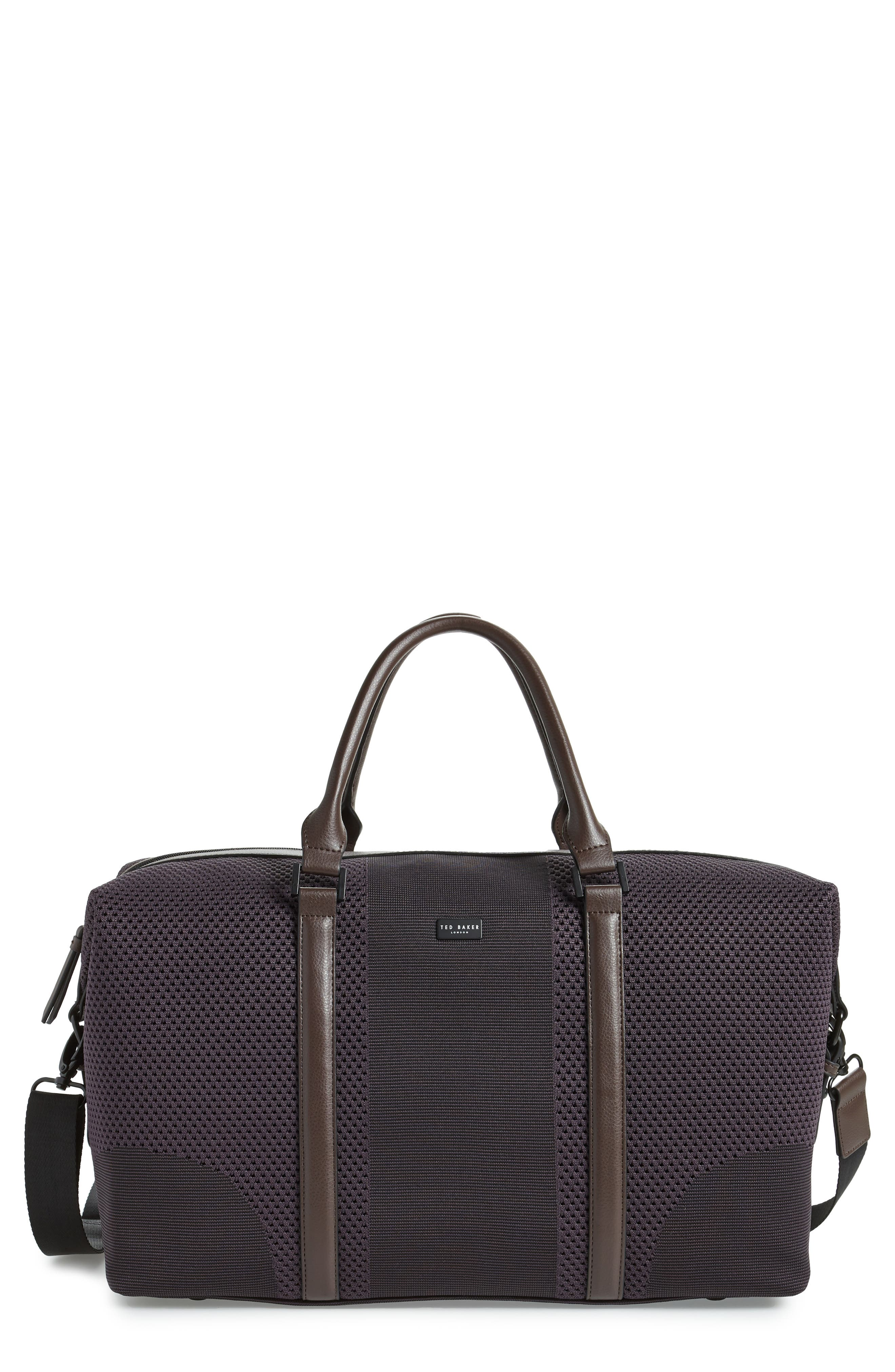 TED BAKER LONDON Knit Holdall Duffel Bag, Main, color, 531