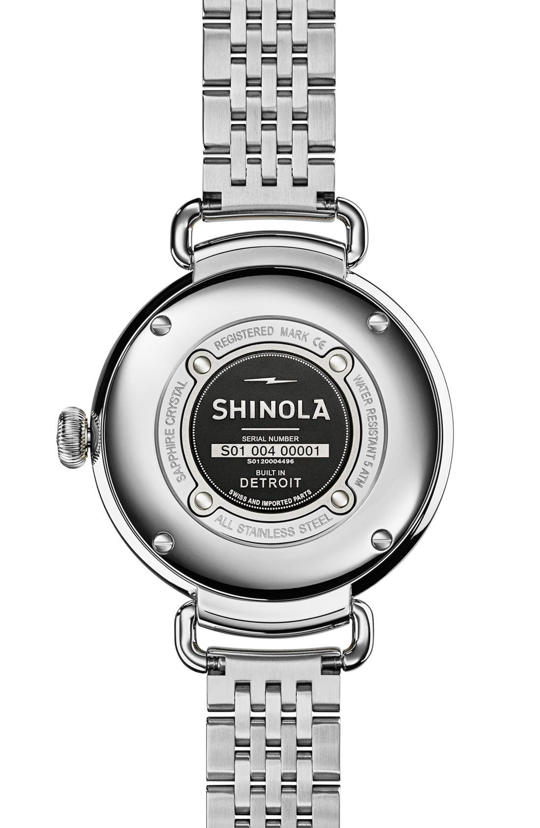 SHINOLA,                             'The Canfield' Bracelet Watch, 38mm,                             Alternate thumbnail 3, color,                             040