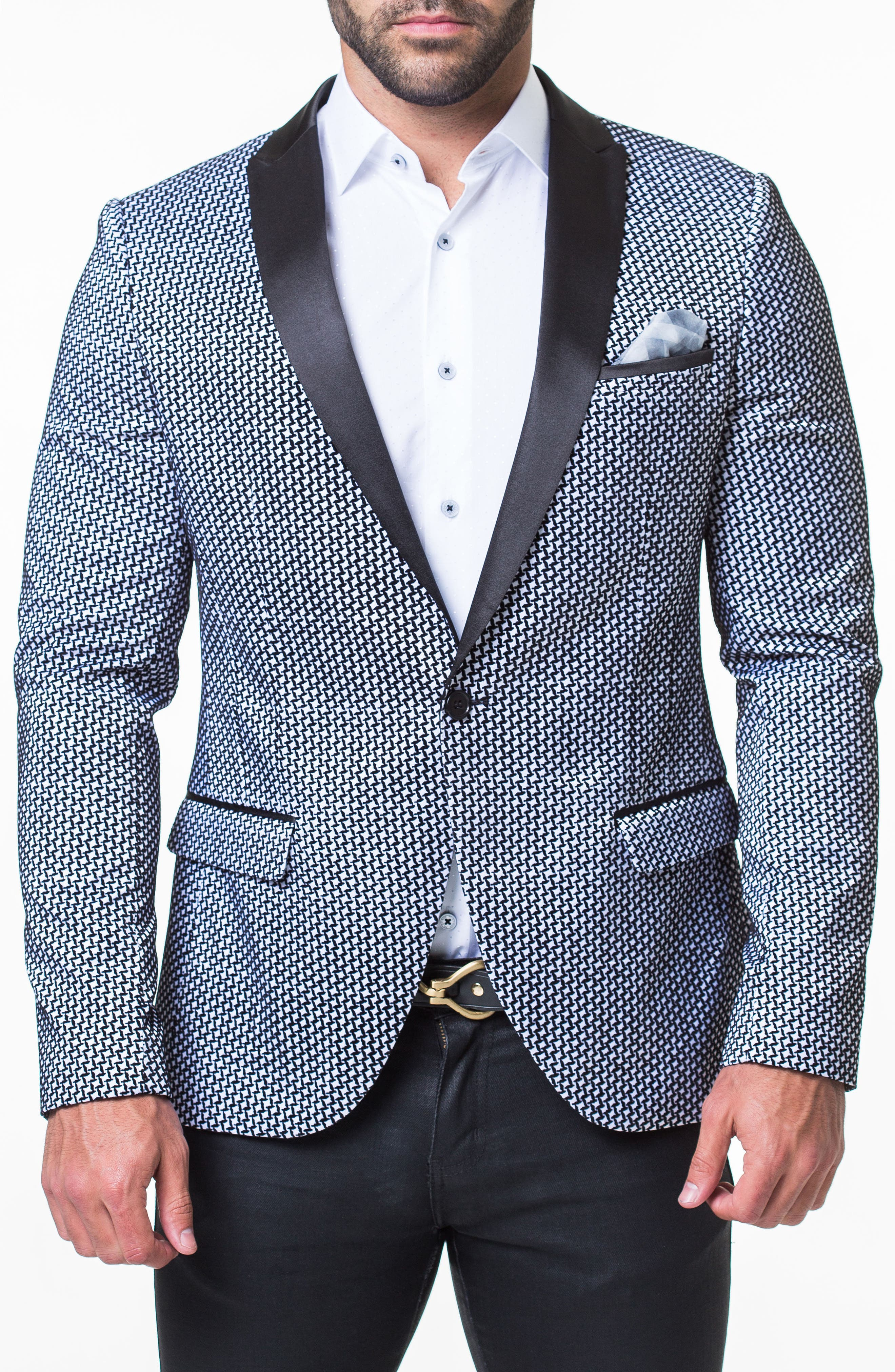 Algebra Flocked Sport Coat,                         Main,                         color, 030