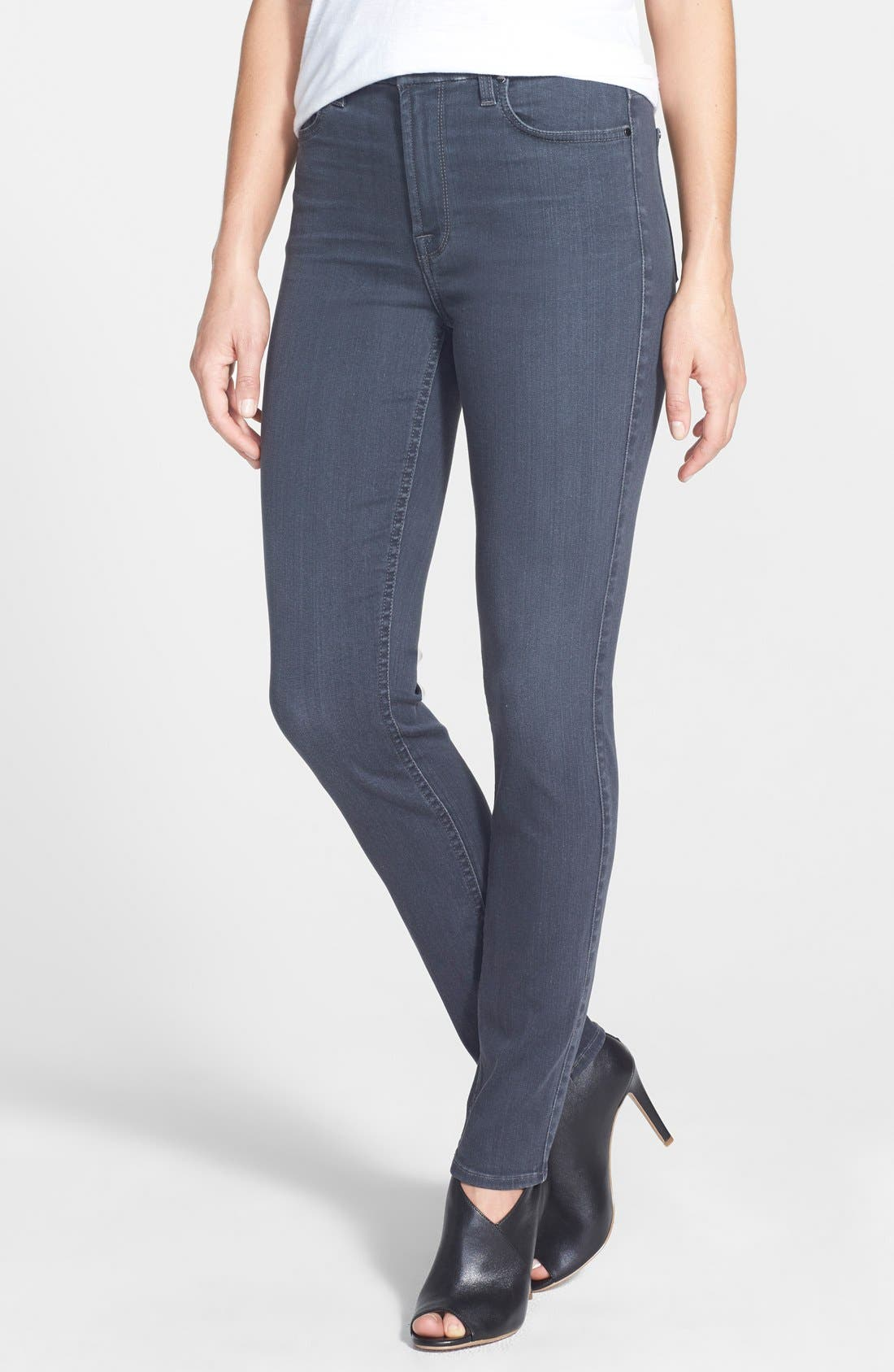 Stretch Skinny Jeans,                             Main thumbnail 1, color,                             CLEAN GREY